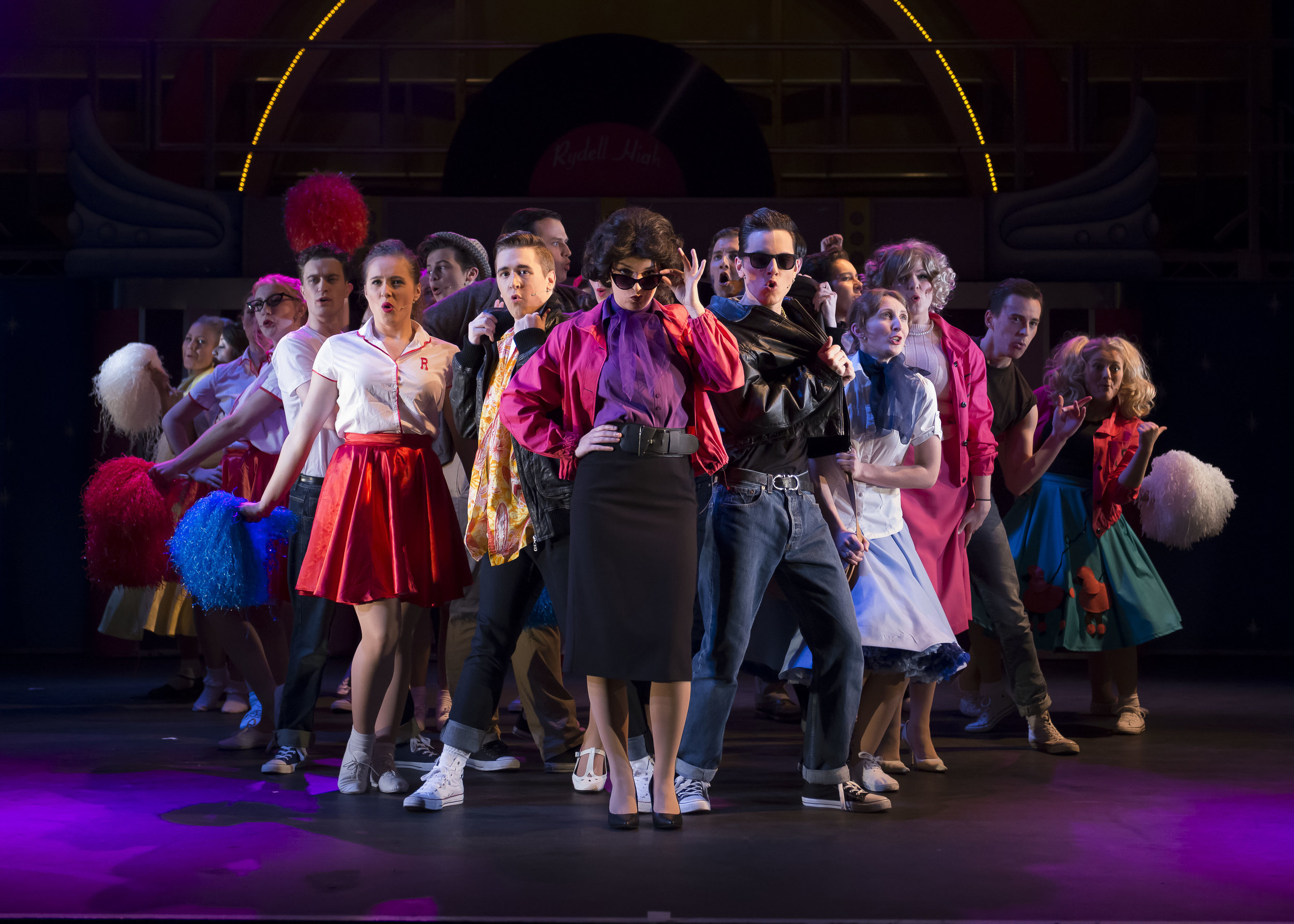 The company perform: 'Grease is the Word'