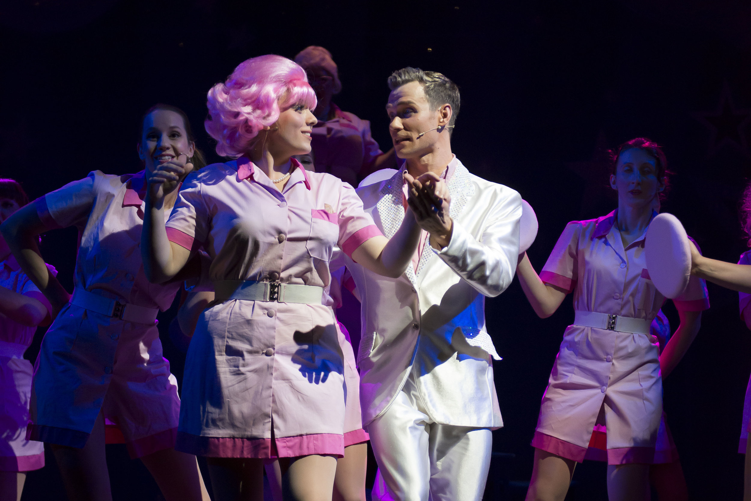Kirsty Bennett as Frenchie and Bryn Hughes as Teen Angel