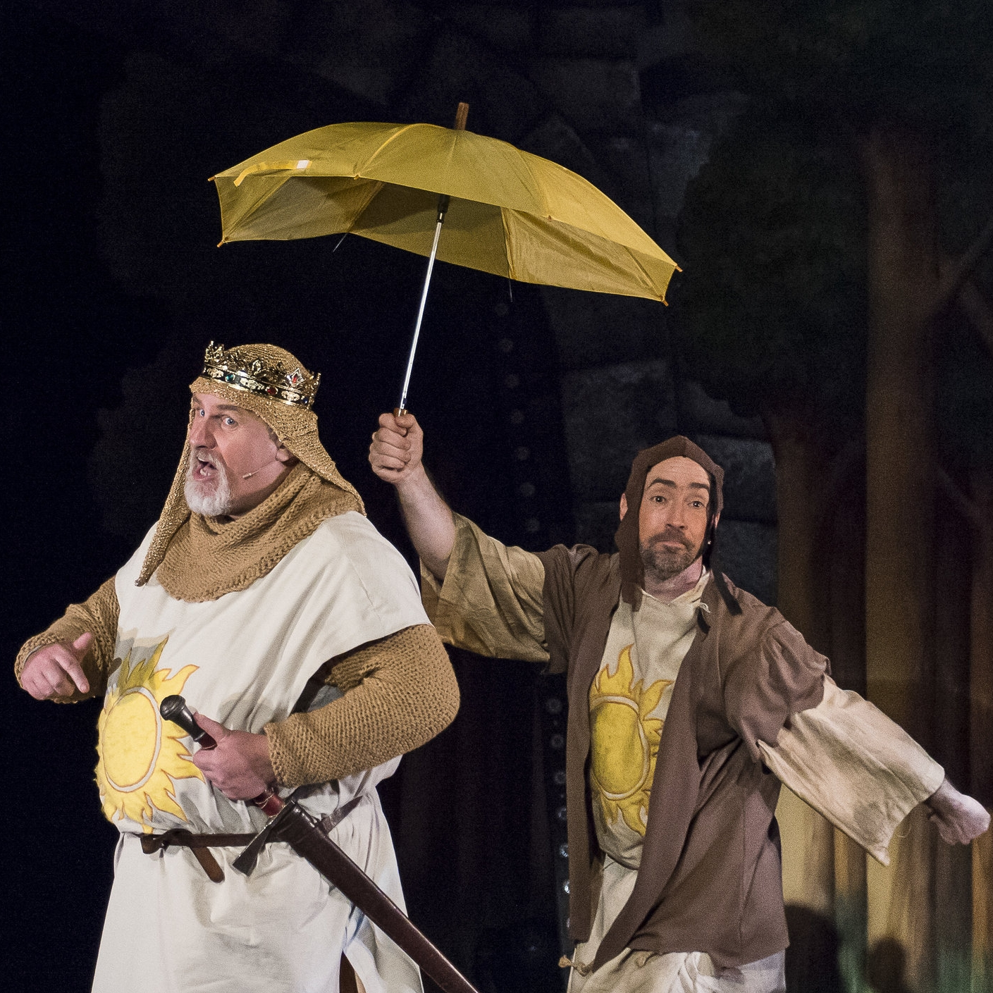 Colin Flaherty as King Arthur and Richard Bond as Patsy
