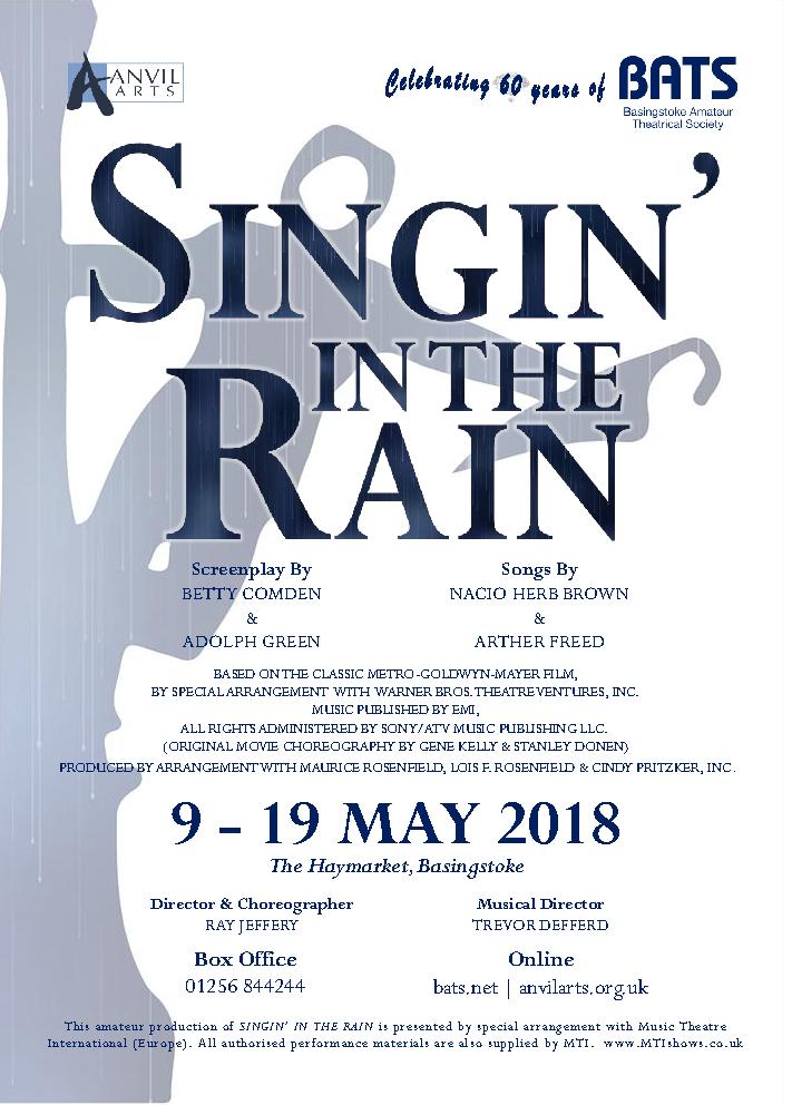 Singin' in the Rain - May 2018