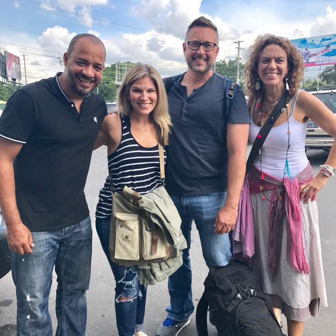 Here is Kako, me, Lee and Nadia! #HappyFeetCaravan