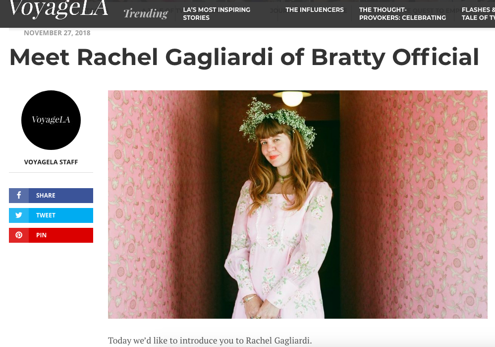BRATTY OFFICIAL FEATURED ON VOYAGE LA MAG!