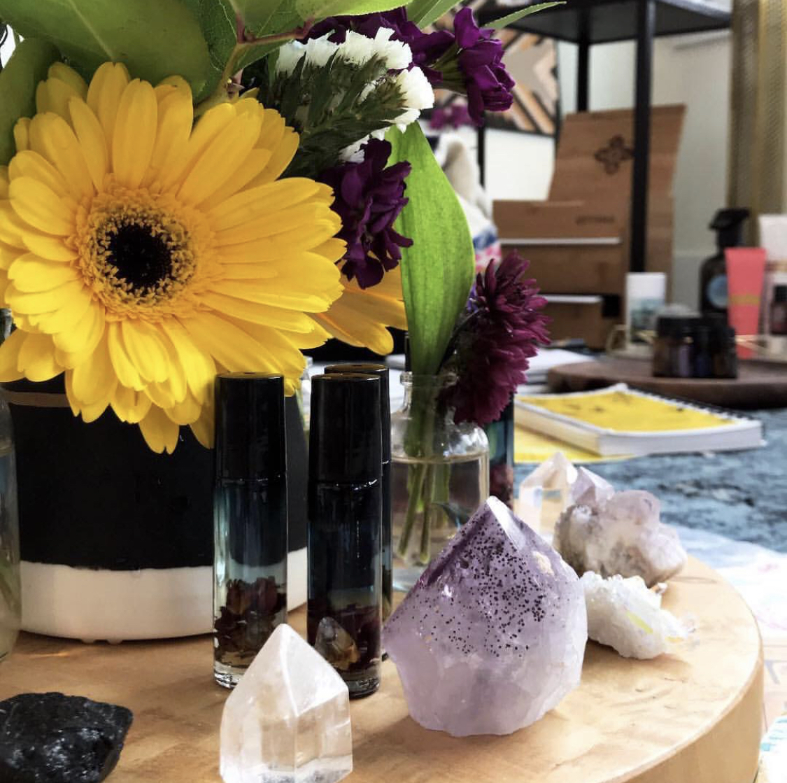 Oils + Oil Blends - Crafted with intention by April to uplift, defend, open, heal and expand.