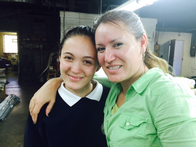 Andrea Ascensio (left) and her mother, Bertha Garcia. Photo ©2015 Sandra Cisneros