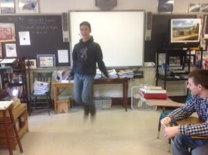 Garrett jumps rope with cowboy boots!