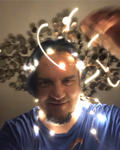 String lights selfie. Try it!