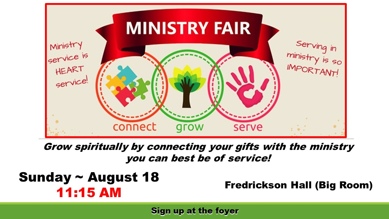 CCC Ministry Fair 2019 - Finding a place to serve…