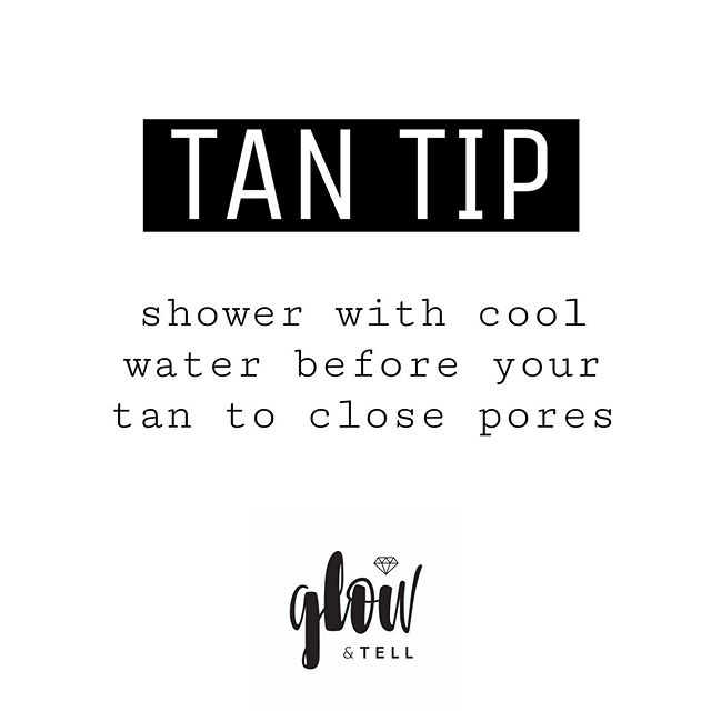 "Have you ever gotten ""dotty skin"" after your airbrush tan? This can happen on your legs, chest and face as a result of your pores being open while you are being tanned. Here's how to avoid it:  1. Turn your shower to cold for 60 seconds before getting out. Hot water opens up your pores so rinsing with cool water for a few seconds will seal them up and create a more even tan.  2. Shave/wax at least 12-24 hours prior to your spray tan. Shaving right before your tan leaves your pores open and the solution will settle in and make itself riiight at home.  #tantip #spraytan #airbrushtans #airbrushtanning #costamesatanning #octanning #glowup #glowandtell #tanstagram #customairbrushtan #instatan #tanbabes"