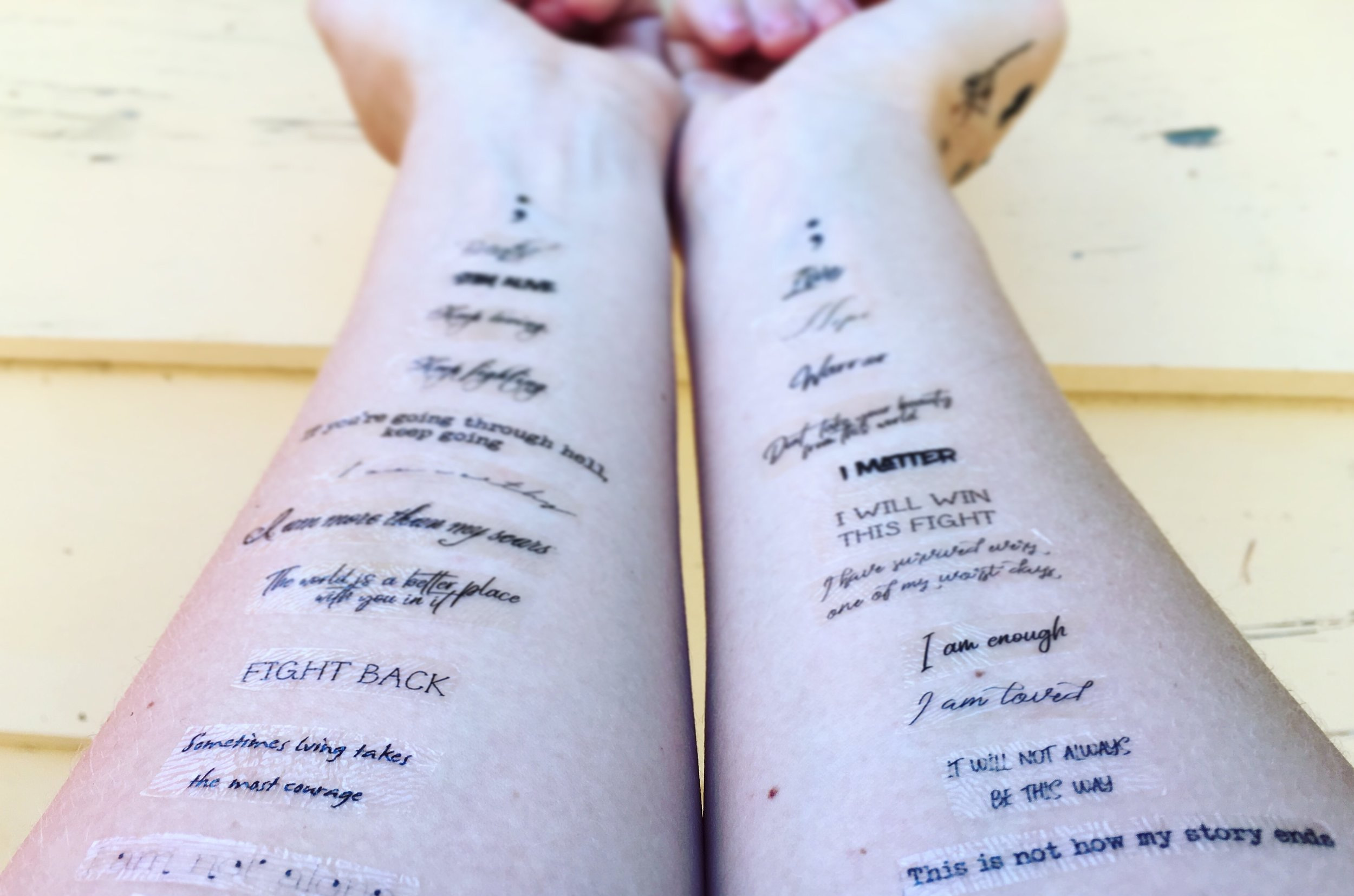 Positive affirmation temporary tattoos available  here