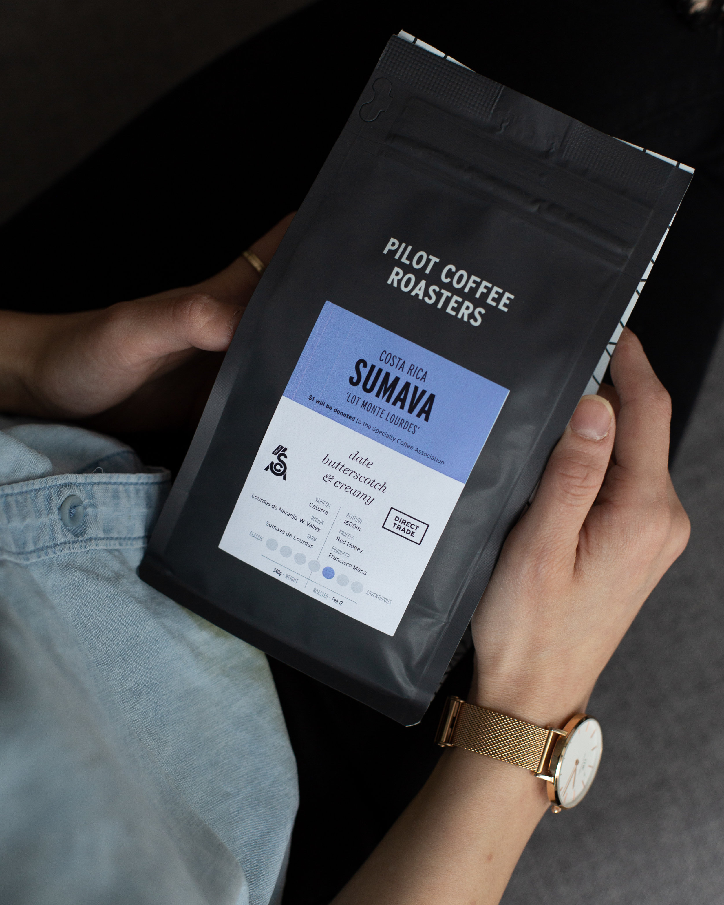 SCA x Pilot Coffee Roasters - feb '19 | One dollar from each bag of Costa Rica Sumava Monte Lourdes is donated directly to the SCA Canadian Chapter, along with raising awareness through Pilot's extensive wholesale and social network.