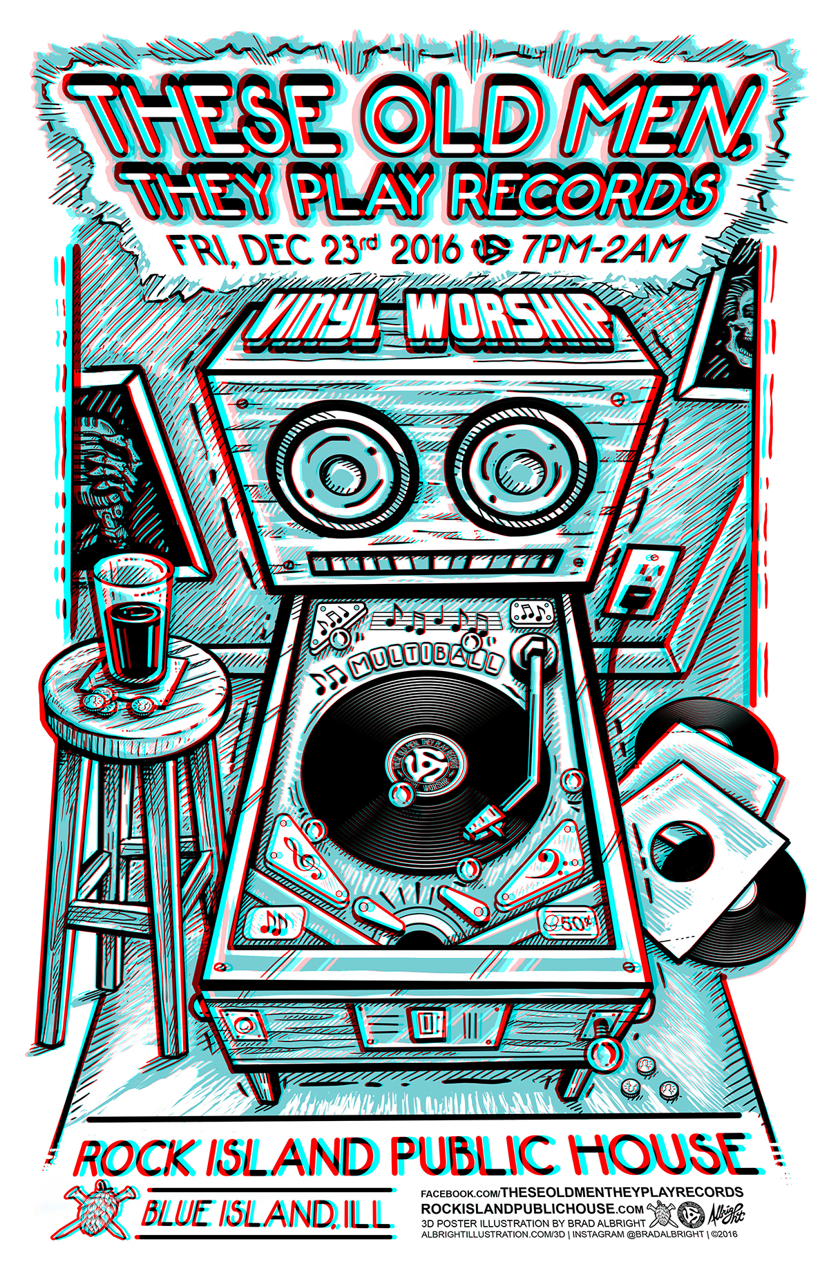 Get out your 3D glasses for this one!    Poster Art by  Brad Albright