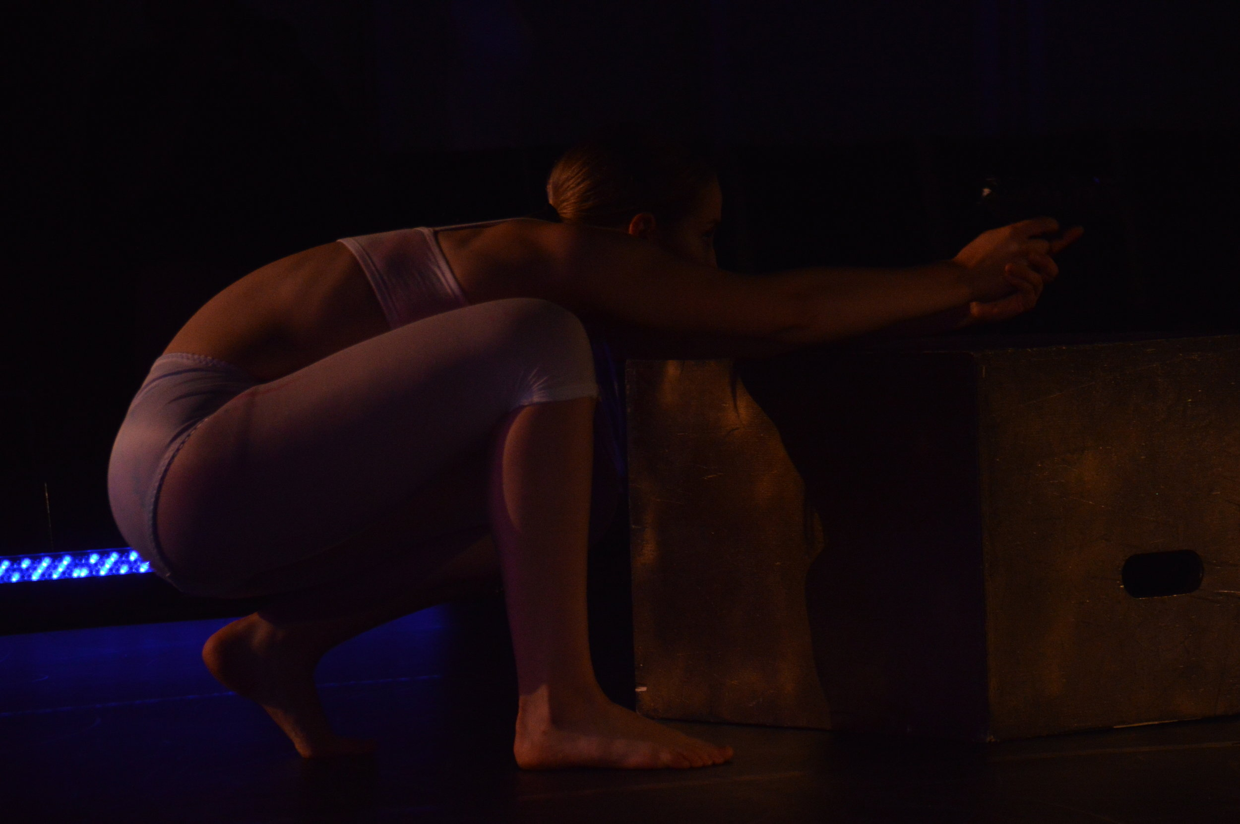 again, again, again. - 2016Our natural tendencies lie in our obligation to build, structure and grow. We only notice the things we lack; in ourselves once they have been recognized. Once impacted, it is our job to deconstruct, rebuild and create ourselves to beauty again.Performers:Premiere - Night Swim: Tara Kisil, Hannah Krostewitz, Carley Stastny, music rights: Teen Suicide - Haunt (x3)Remount - New Blue Festival 2017: Laura Carella, Brianna Salmon, Carley Stastny, original soundtrack by Nigel Edward