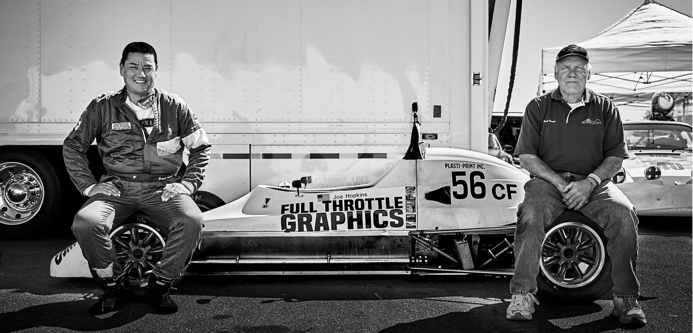 Joe Hopkins and race engineer and Formula Ford legend, Neil Porter