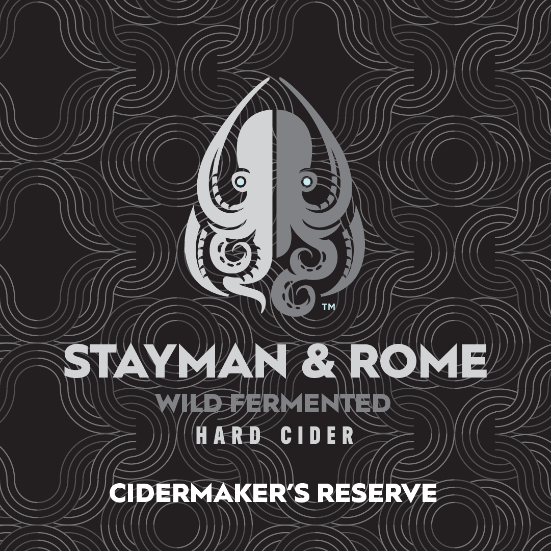 A wild-fermented heirloom blend in the earthy, citric, and funky style of Spanish Sidra, featuring Stayman and Rome apples. It was fermented cool and slow then aged 5 months. Cidermaker's Reserve.