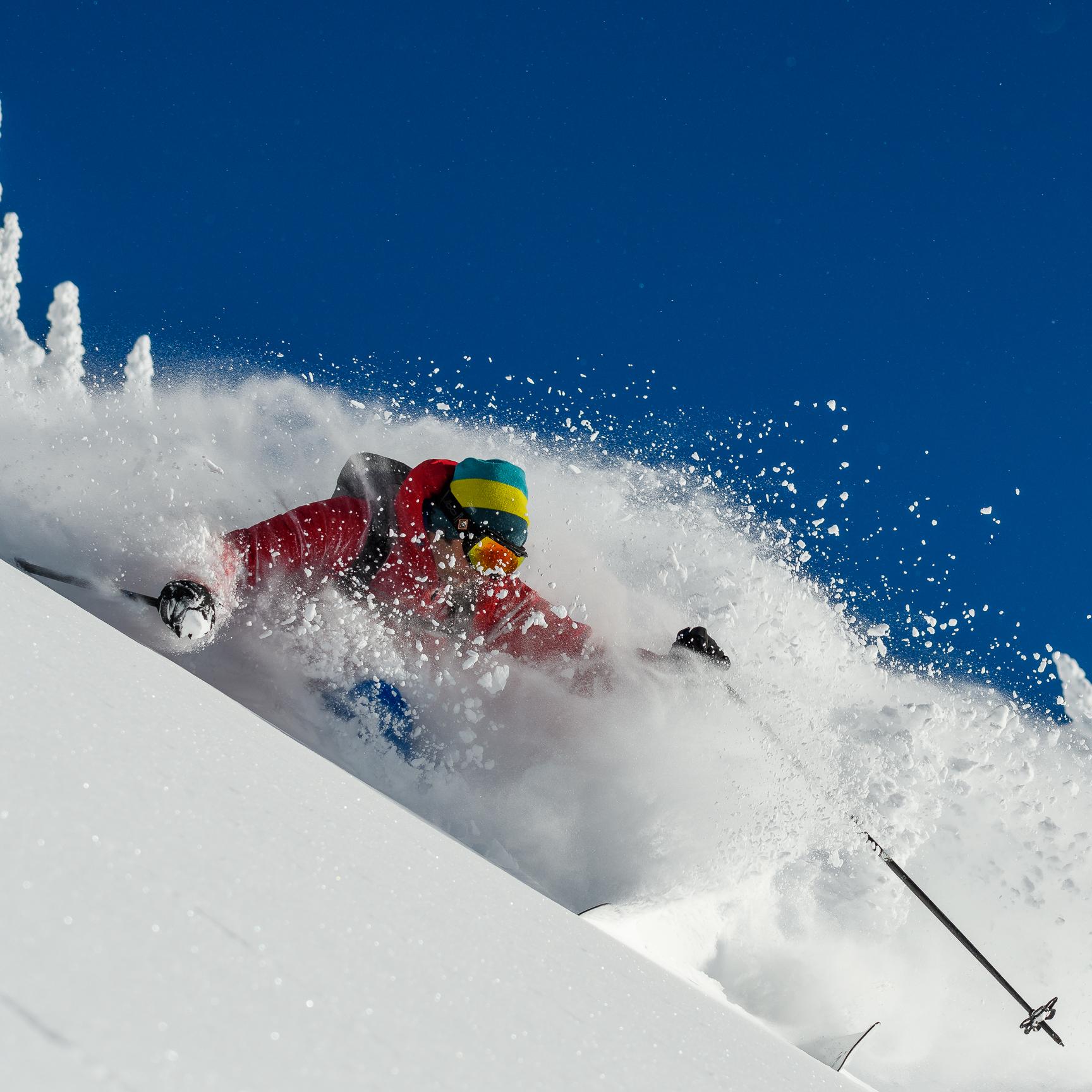 skiing ski guide mountains powder
