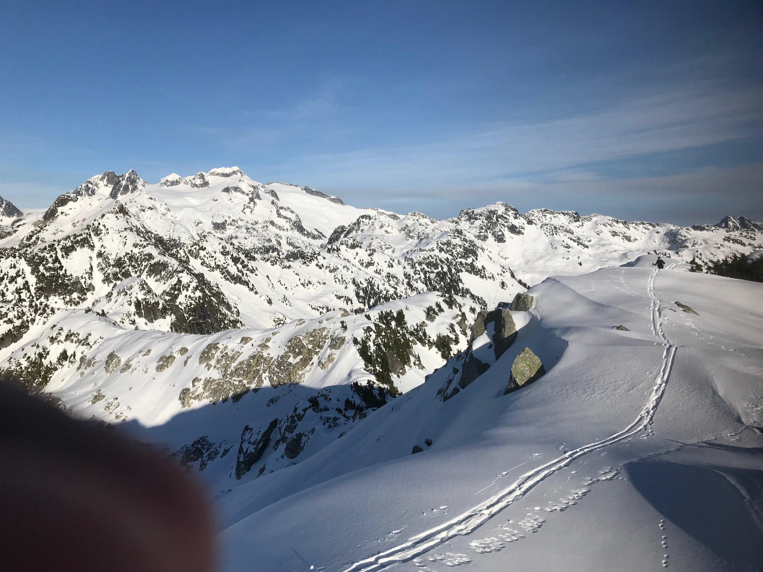 Summit ridge with views to Mamquam