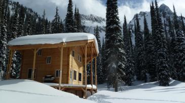 hilda hut backcountry lodge british columbia canada