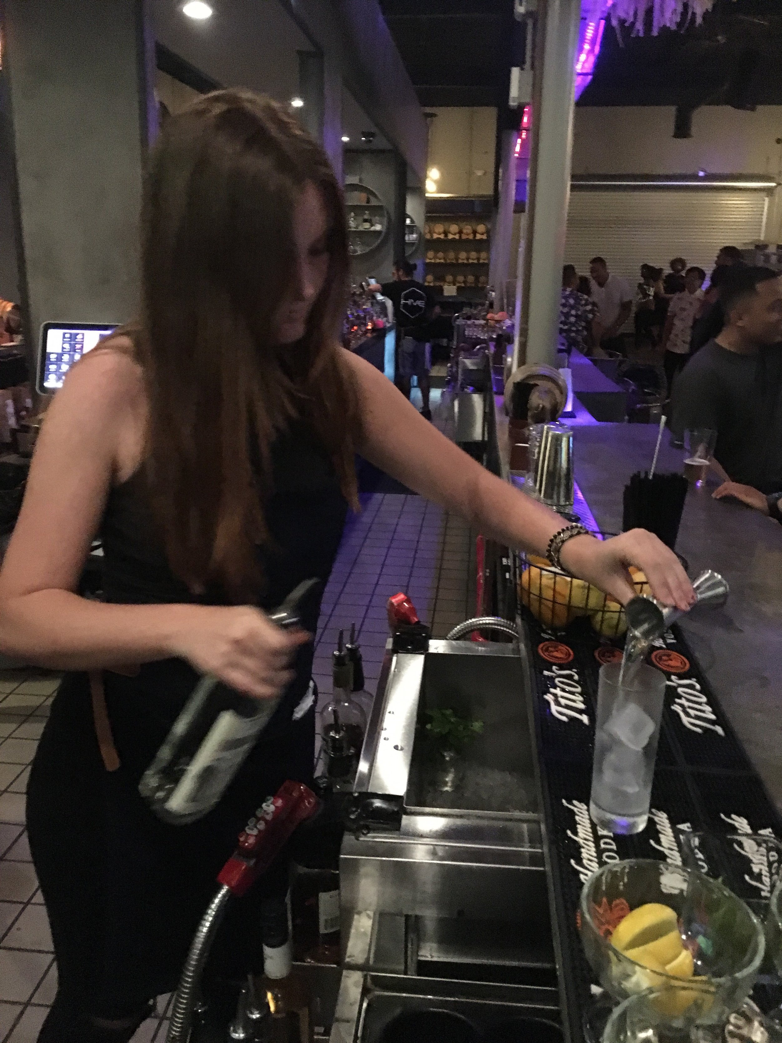 1.Are you currently working as bartender and how long did it take to get your first job?    I am currently working as a bartender at a Restaurant/ Nightclub thanks to GBS. After completing GBS it took less than 1 weeks to get hired at my first job.     2. How did GBS help you land your first Job?    GBS helped me landing my first job by providing me with job interviews and a great resume & job hunting workshop. I learned how to write a bartending resume, interview tips, and job searching tips. GBS gave me all the resources I needed to go out and find a bartending job that was perfect for me.    3. Did the skills you learn at GBS help you be successful bartender?    Yes. all of the skills and tips that I learned at GBS made me feel extremely prepared at my job. I learned customer service points, up selling, how to properly use bar equipment, and how to use a POS system. It was very helpful to have the opportunity to practice all the techniques beforehand.    4. Why did you choose GBS and how would you grade your overall experience?    I chose GBS because it was a high rated bartending school on yelp. The website was very clear on days, times, and had many great testimonials from other students. I am more than happy with my overall experience and would recommend this class to anyone wanting to become a bartender.  -Recent Graduate Elizabeth