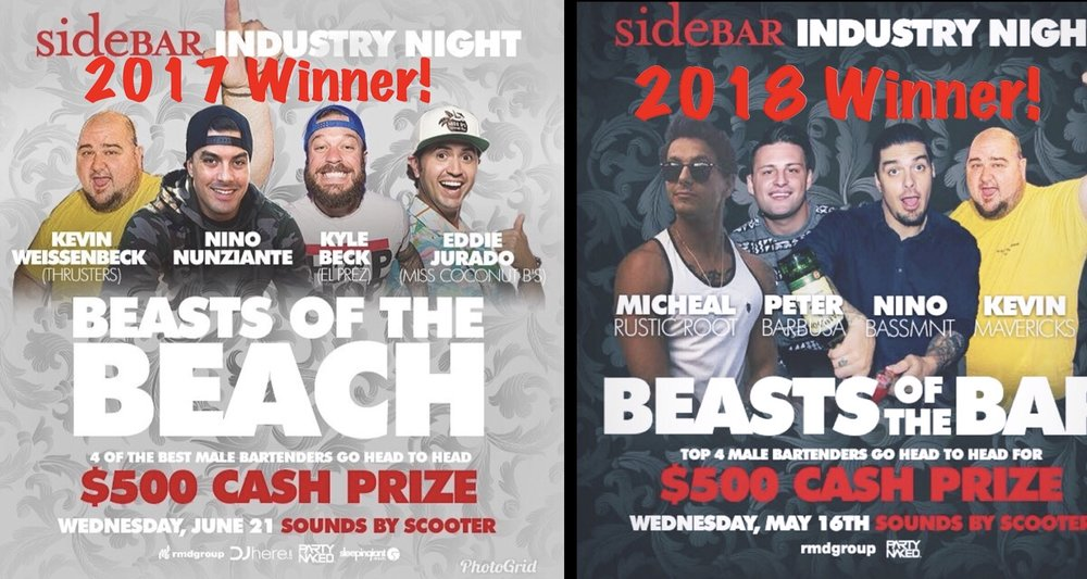 YOUR HEAD INSTRUCTOR/OWNER IS THE 2017 & 2018 WINNER OF BEST BARTENDER SAN DIEGO. OUR TEAM OF INSTRUCTORS ARE ALSO ACTIVE BAR MANAGERS AND INDUSTRY VETERANS.