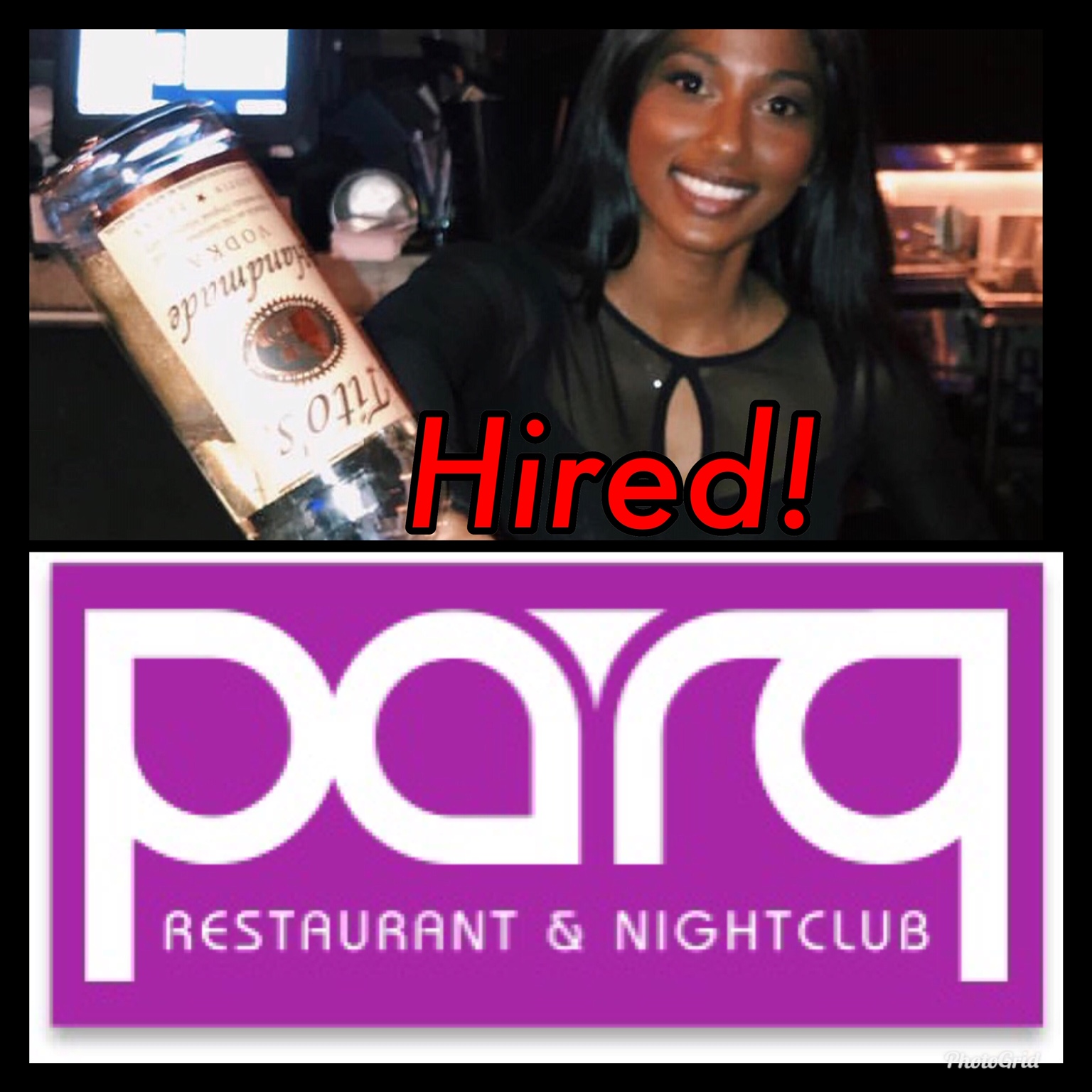 Sitara Told us she wanted to work at PARQ Nightclub, we got her there in 2 weeks through our Bartender Staffing Agency. Hard work pays off at GBS!