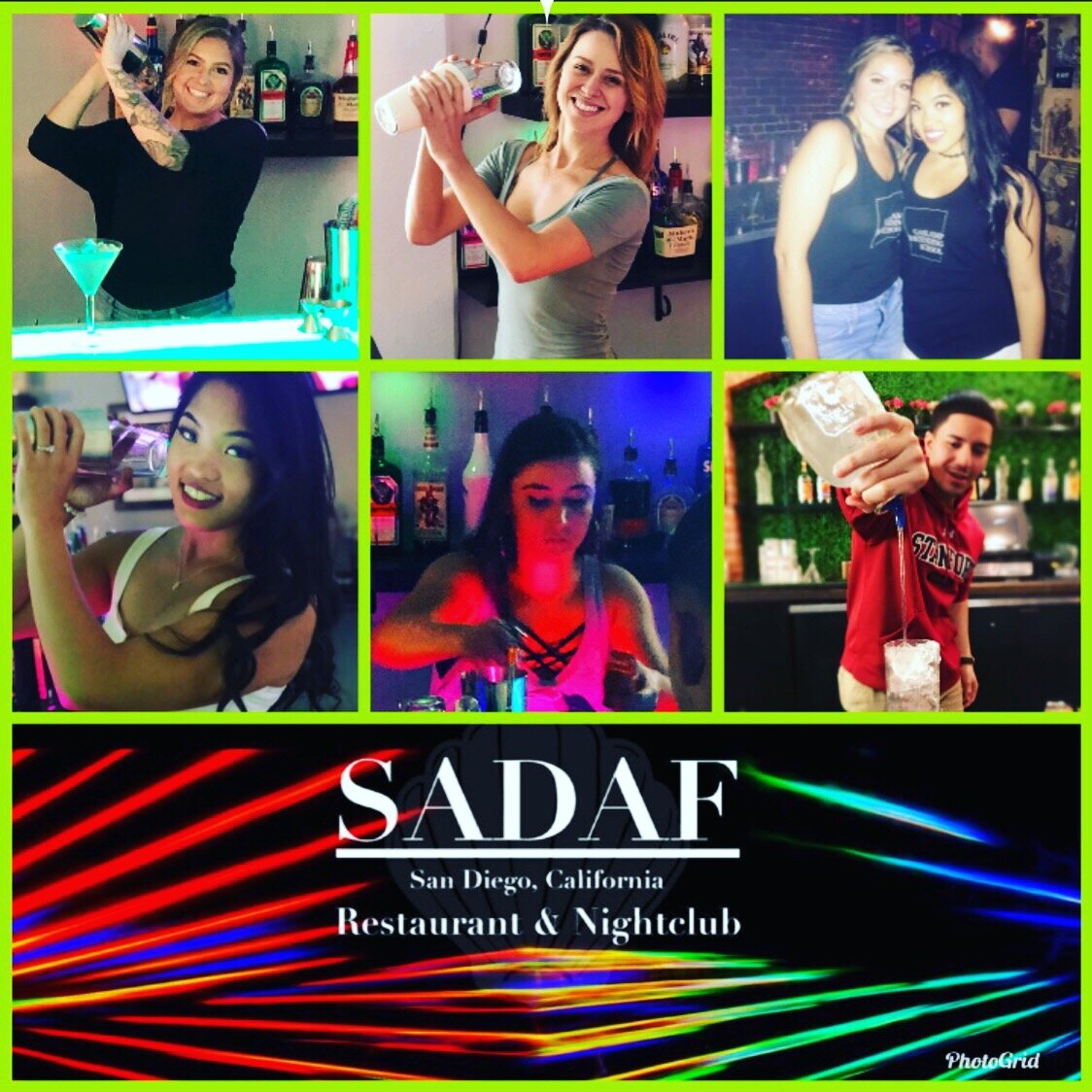 Off Base Bar, Manny's, Archway Lounge, Bassmnt, Atomic, Sadaf, Raised Cantina on The Bay are some of the venues that hire primarily from GBS and has a staff that is almost completely first time students from us! NO SCHOOL IN THE COUNTRY CAN SAY THAT. (Picture above are all grads we got hired at Sadaf thru GBS Bartender Staffing, including one Lead Bartender!)