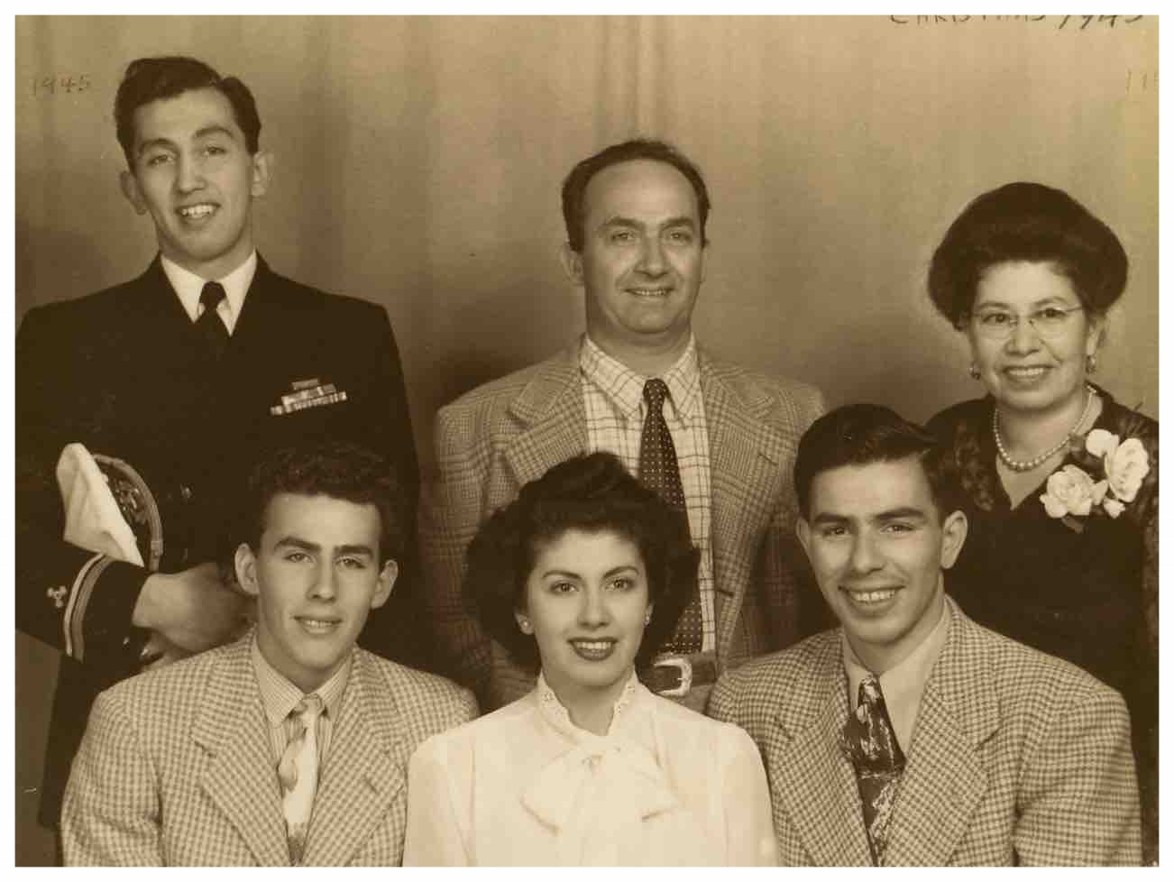Christmas 1945 (Jose and Maria Gargiulo upper right. Frank Gargiulo, bottom left)