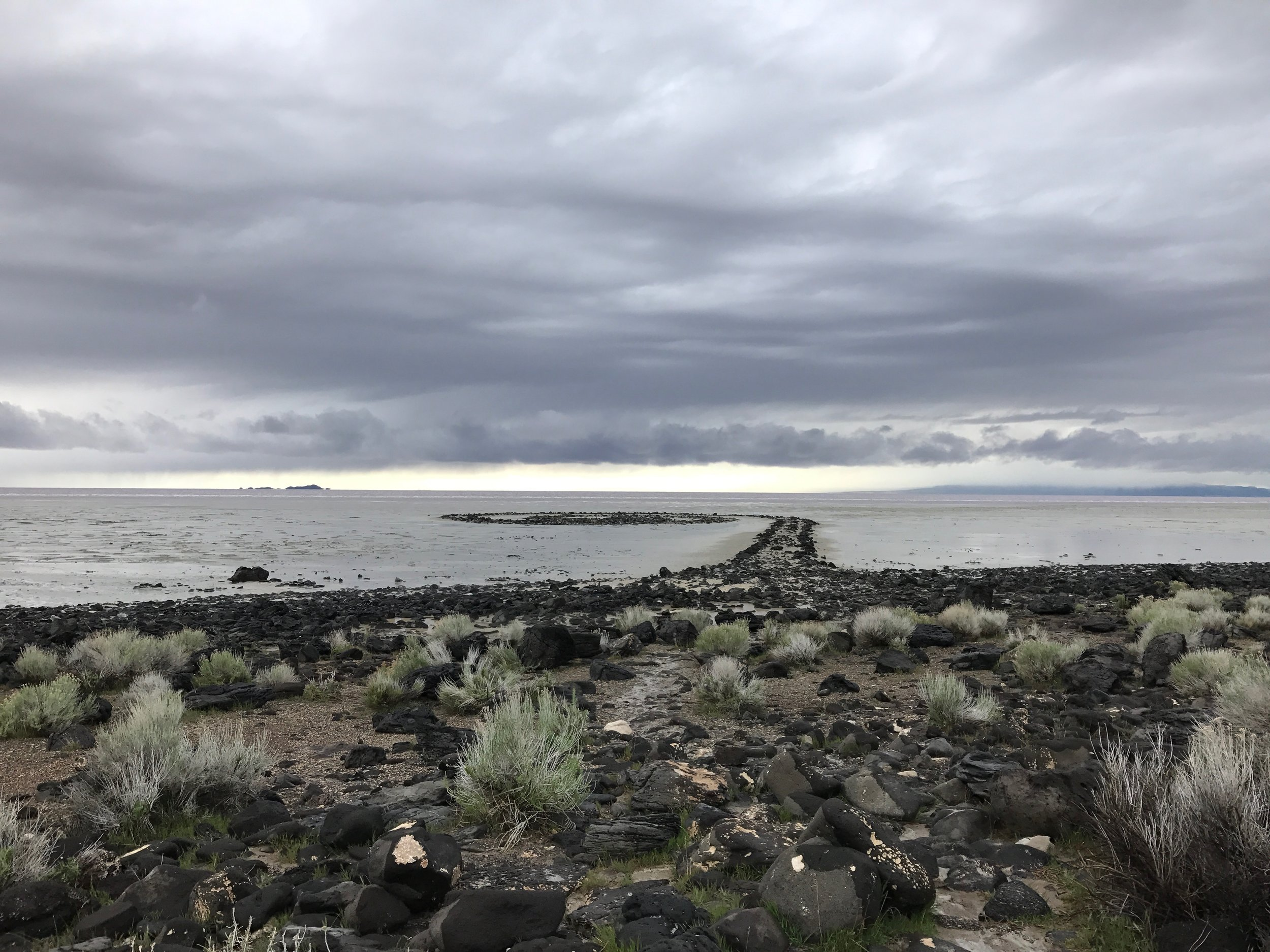 Spiral Jetty, Great Salt Lake, Utah