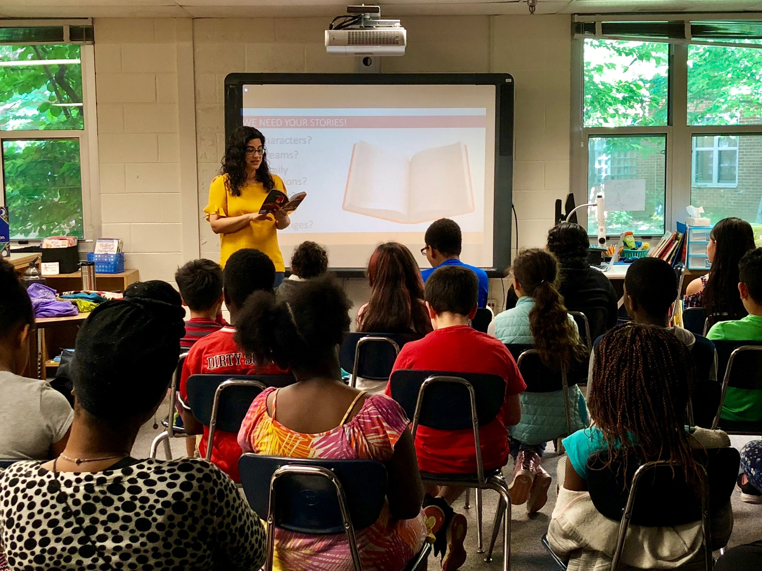 A visit to Whetstone Elementary School with An Open Book Foundation