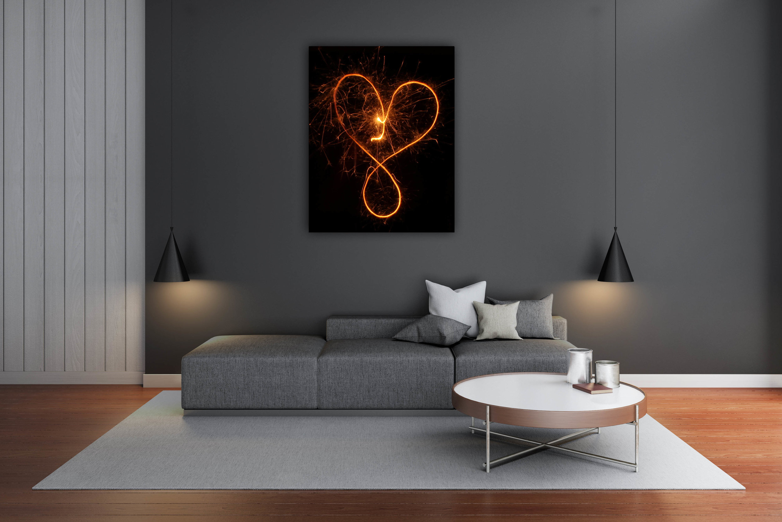 Infinity Heart on canvas Quint Design Store