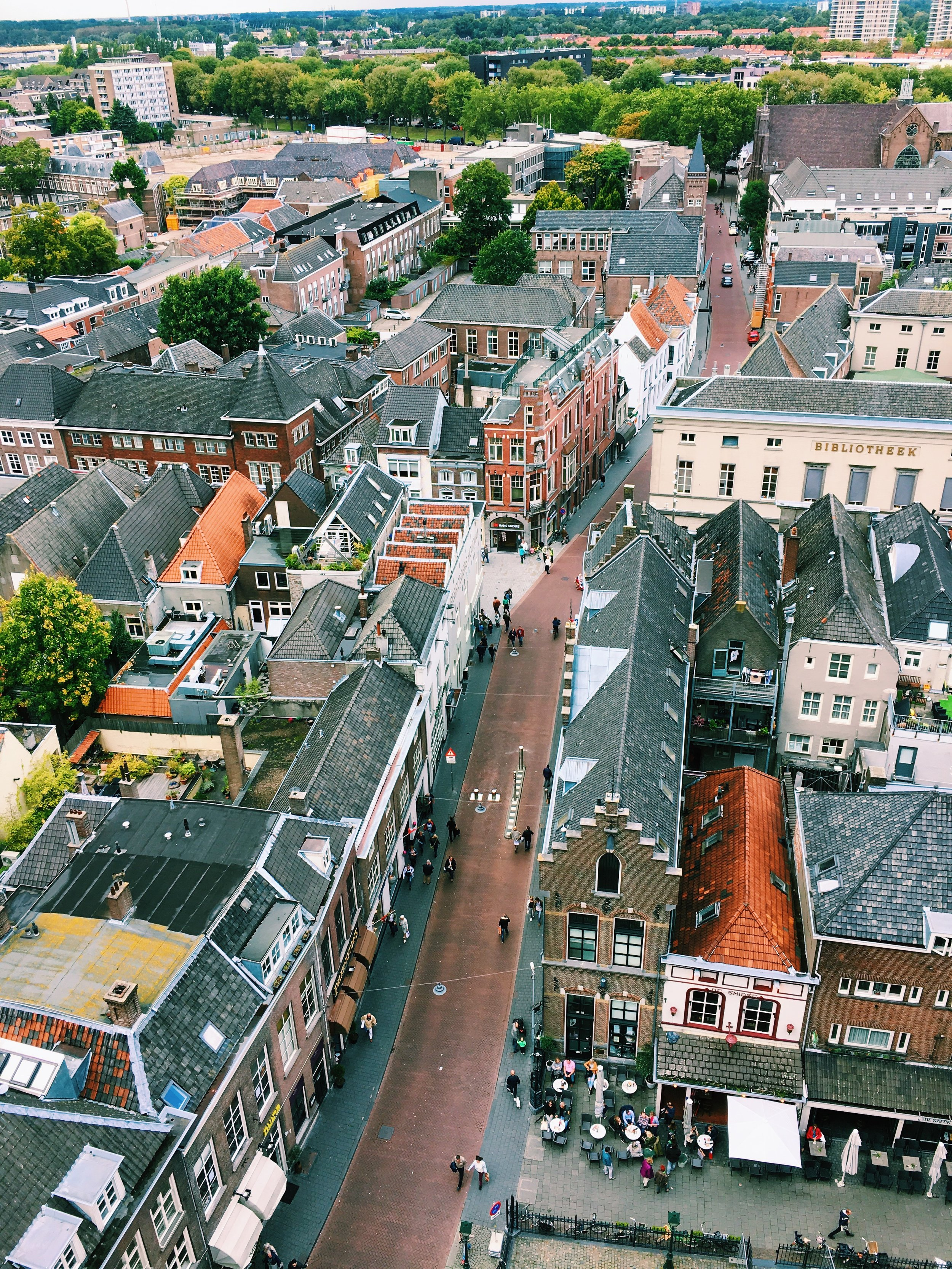 The view from atop Sint Jan in Den Bosch
