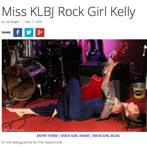 "Kelly Green was KLBJ 93.7's May ""Miss KLBJ Rock Girl""  May 17, 2018"