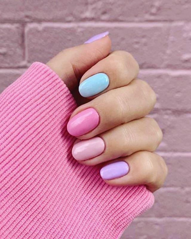 A little bit of color for today! 💕 #CosmoNailBar #DFWNails