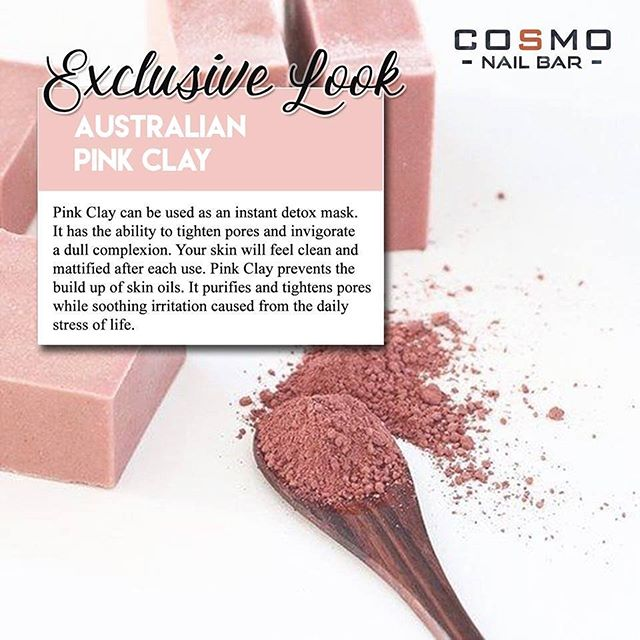 Australian Pink Clay offers more than just your average skin care treatment, it is proven to show results right after the first use!  Check out our Pink Clay Pedicure today and start seeing what everyone has been raving about!  #CosmoNailBar #PinkClay #DFWNails