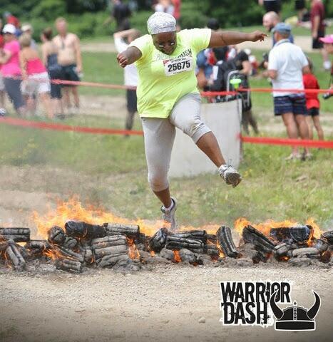 Jumping over fire like the badass ninja that I am!!