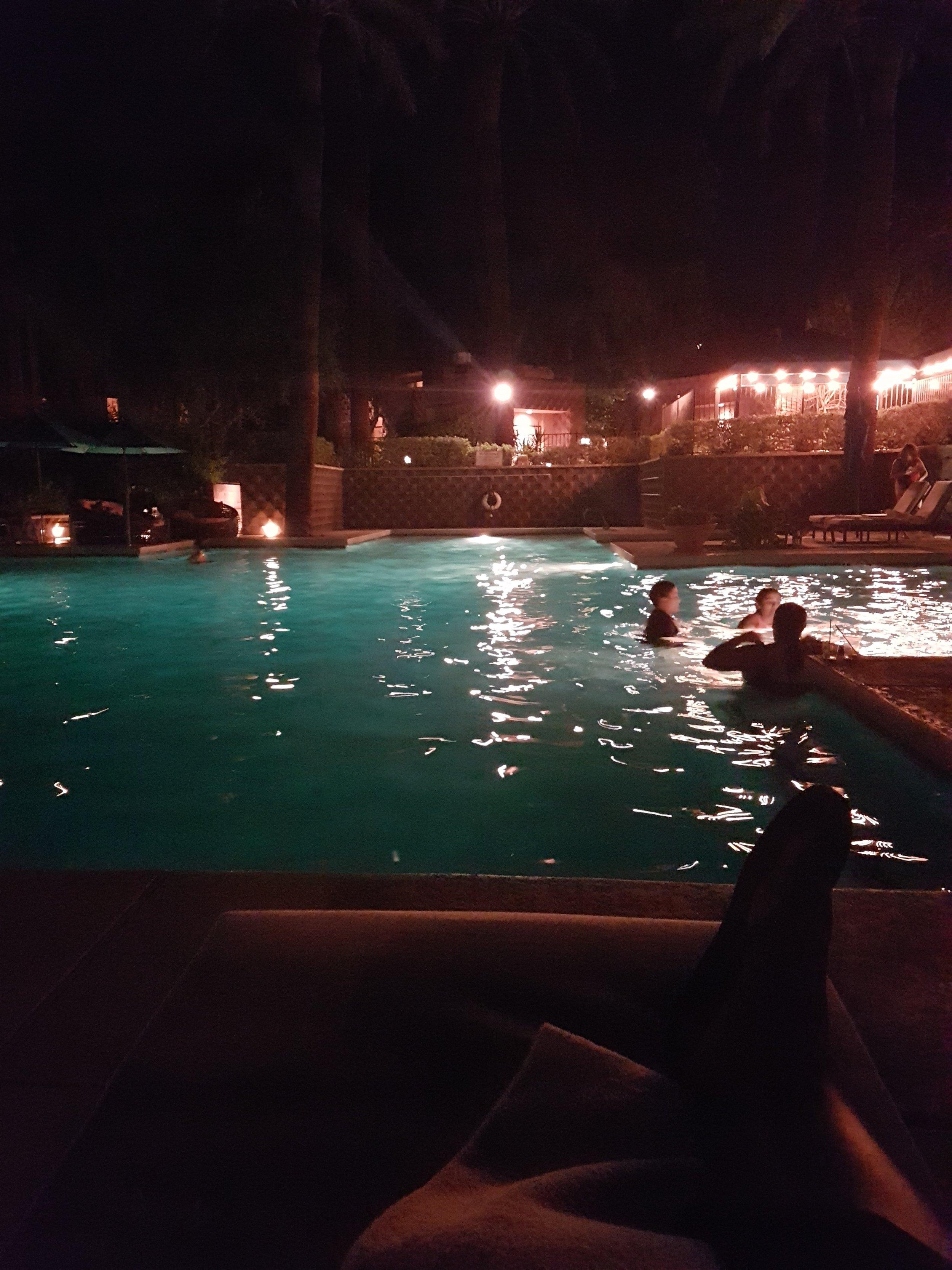A leisure night swim
