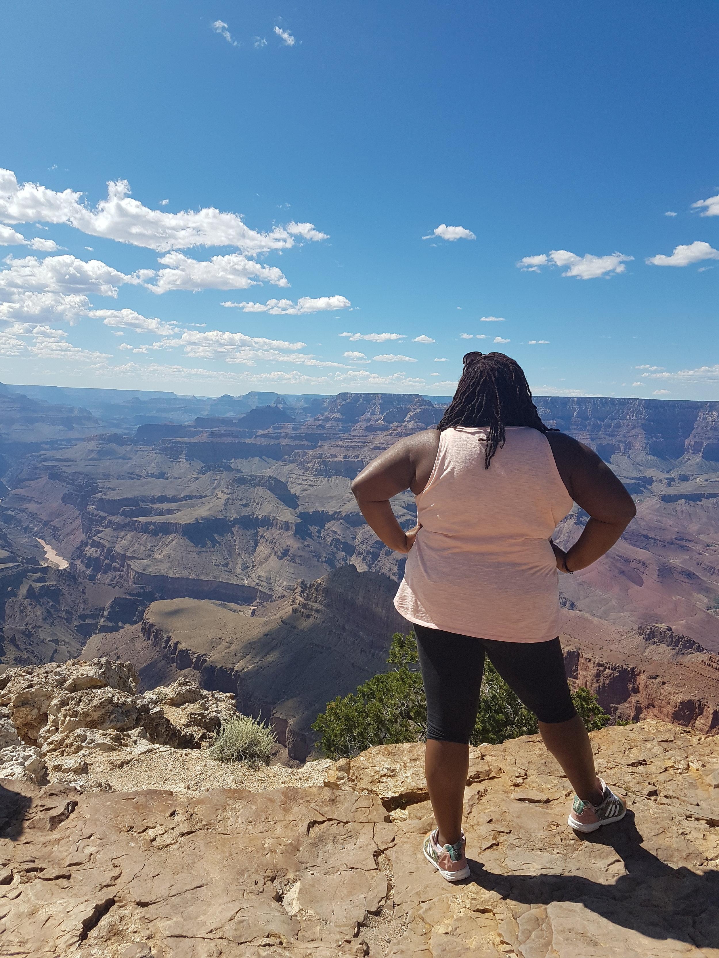 I felt like I was on top of the world @ the Grand Canyon