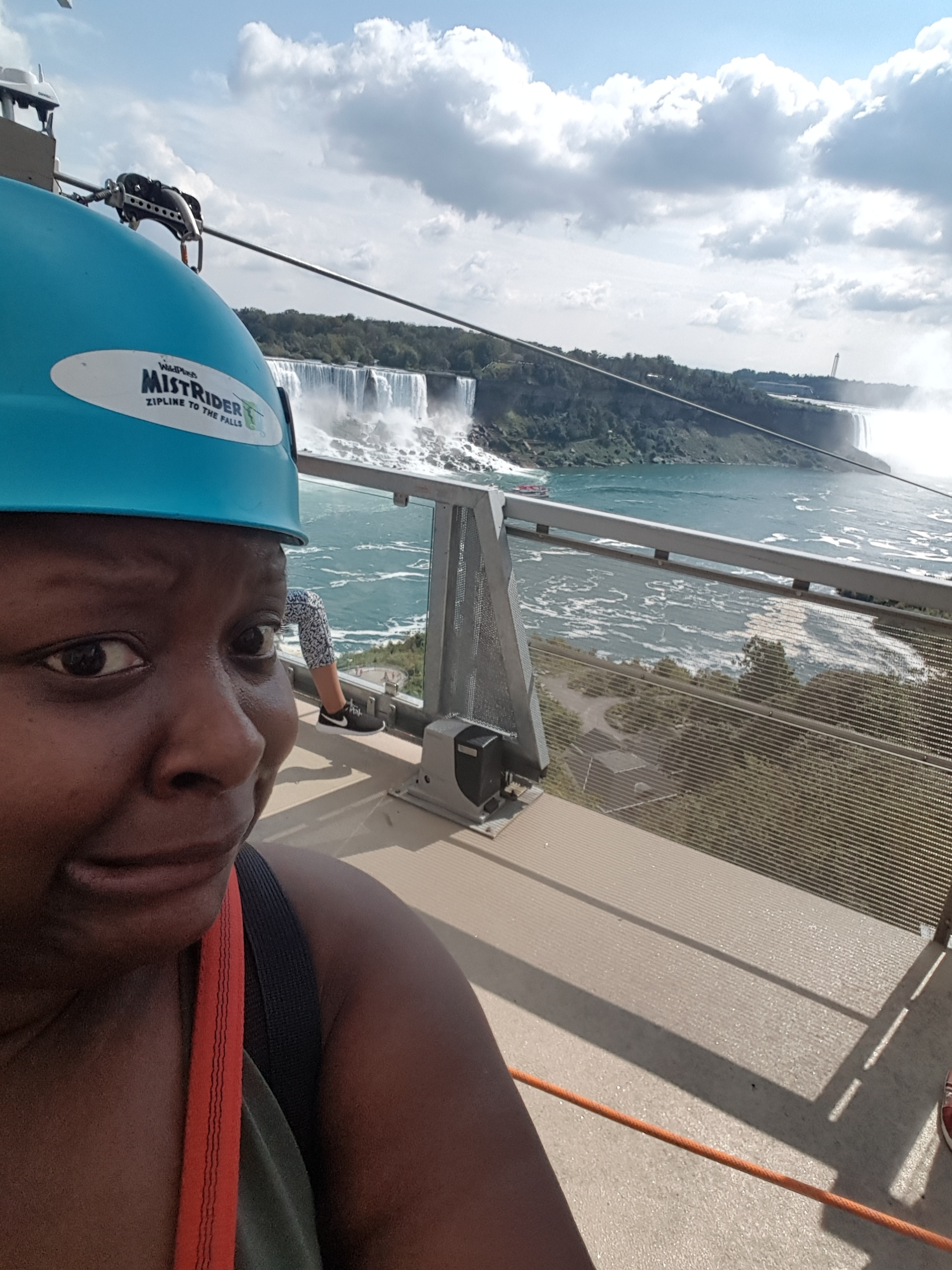 Having second thoughts about this whole zipline thing.