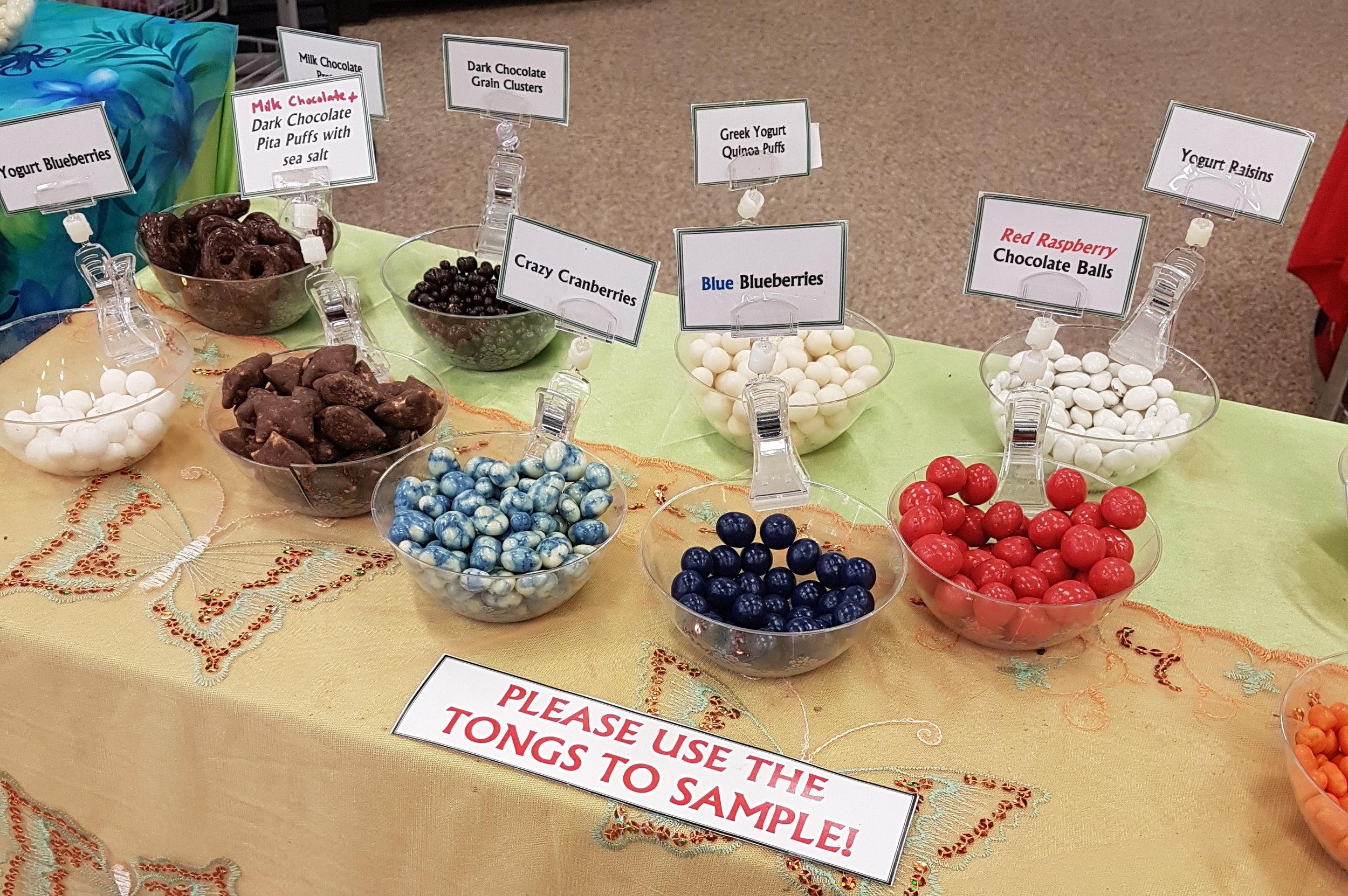 Chocolate samples!