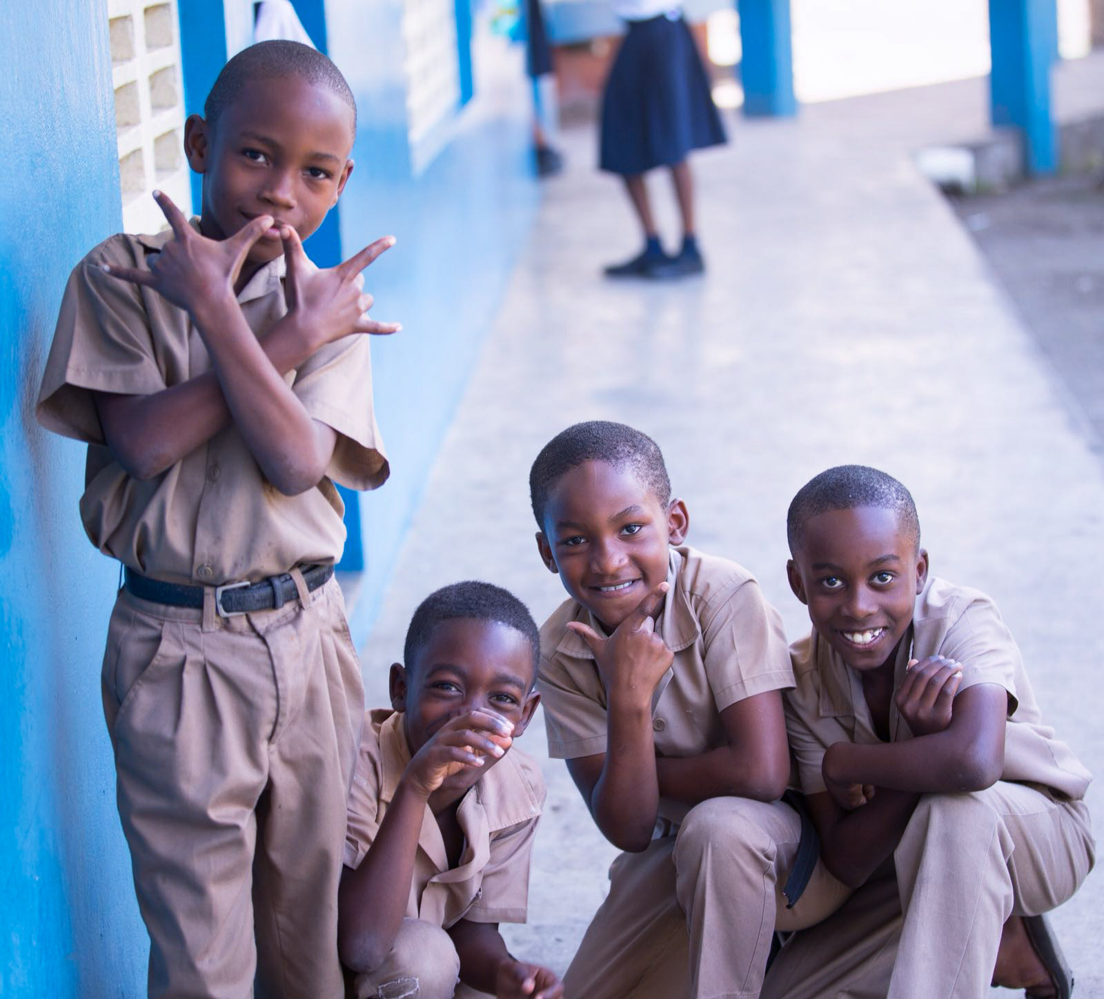 Students at Trinityville Primary in Jamaica     Photo Credit: Dwayne Morgan