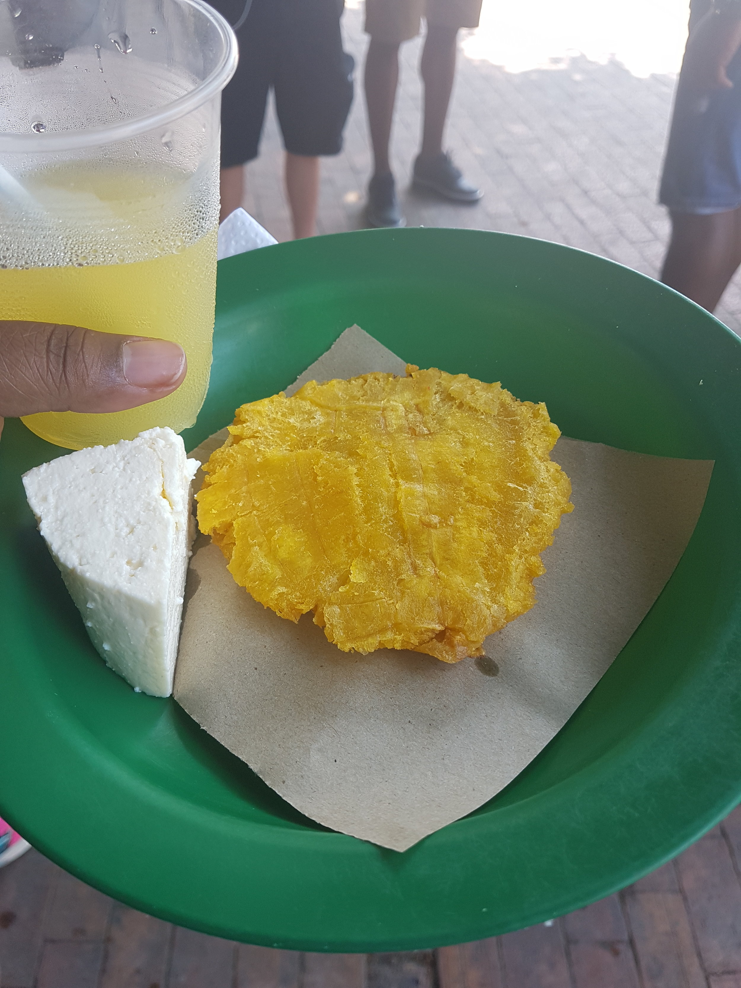 Plantain and cheese. Never heard of this combination but yolo!