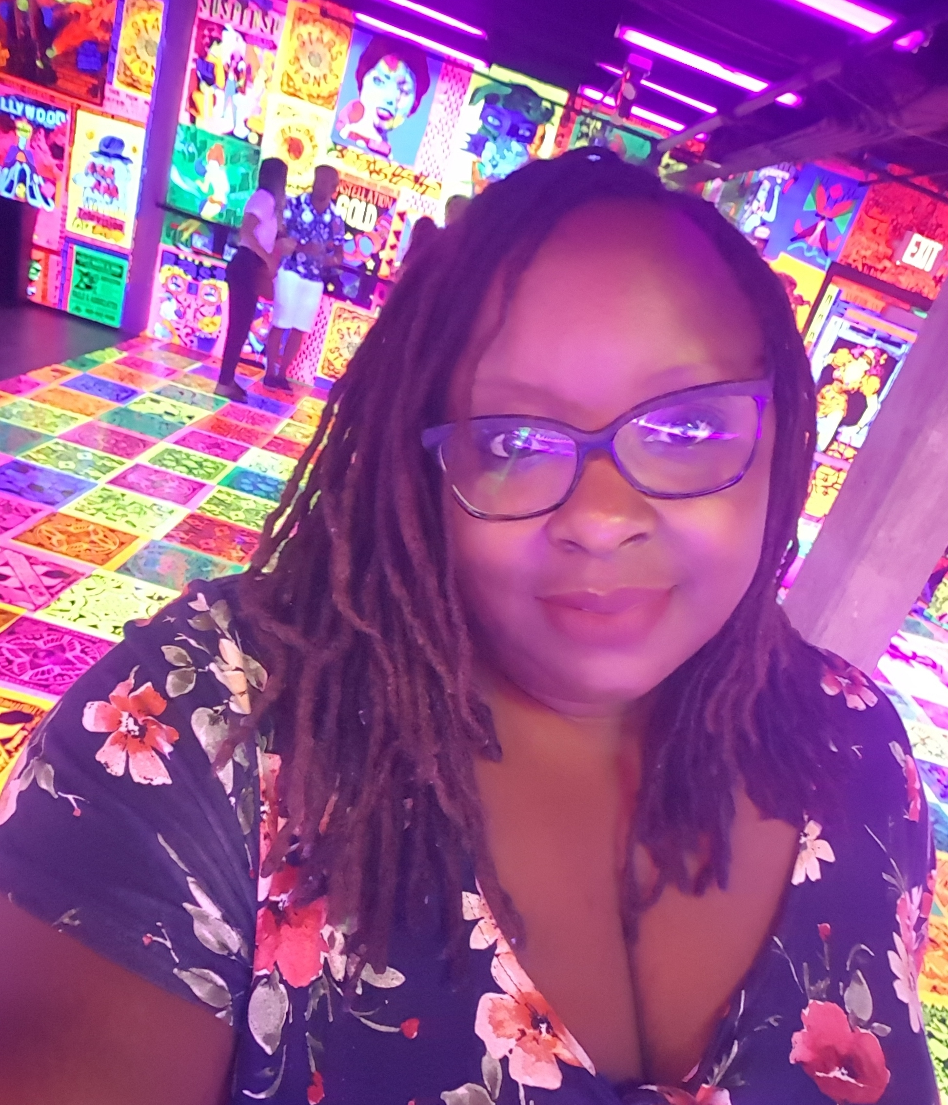 This was the cutest Bar/Arcade in Downtown Detroit. It was all fluorescent! It's called Deluxx Fluxx and it's located in the Belt.