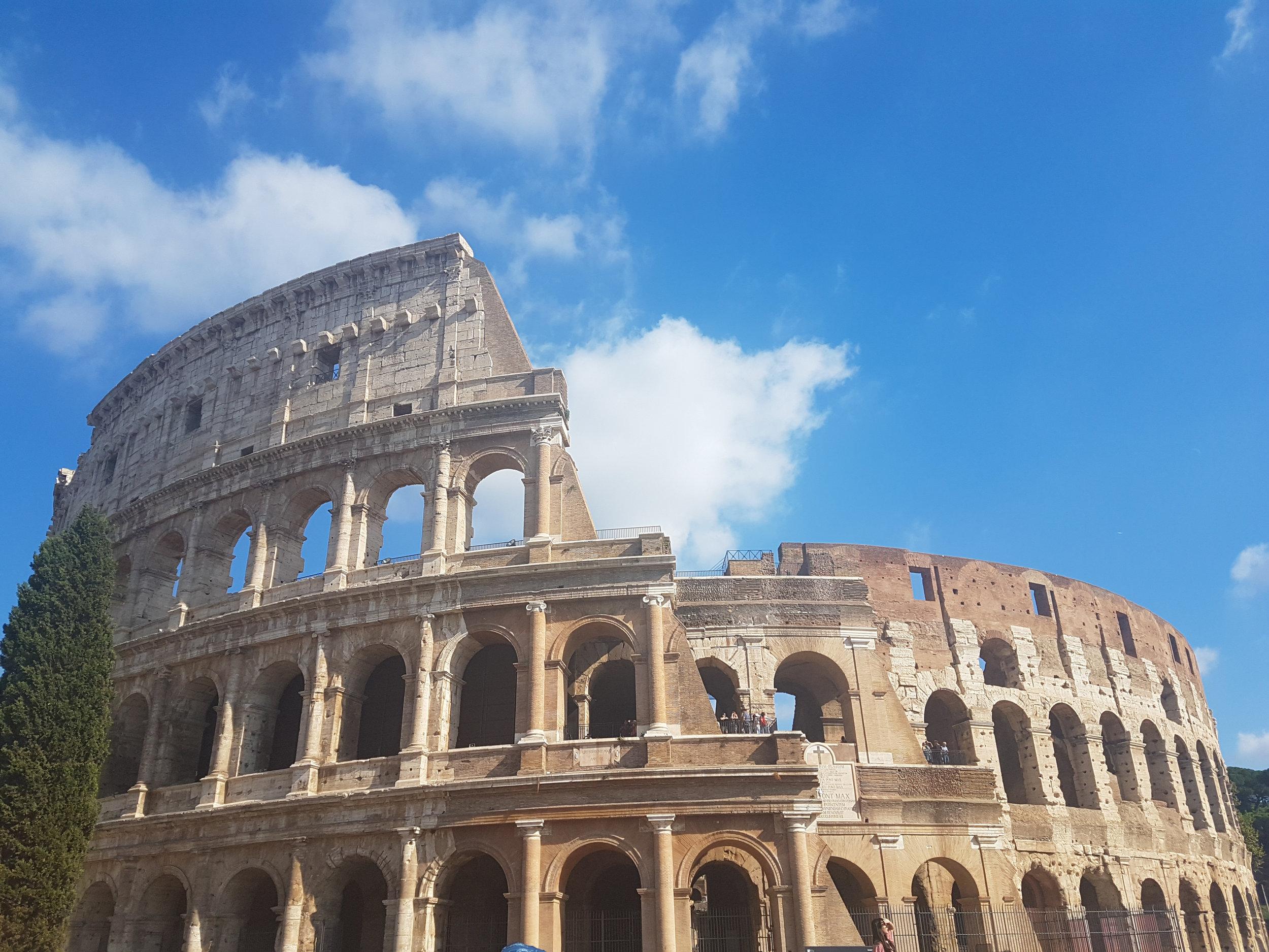 The massive Colosseum.