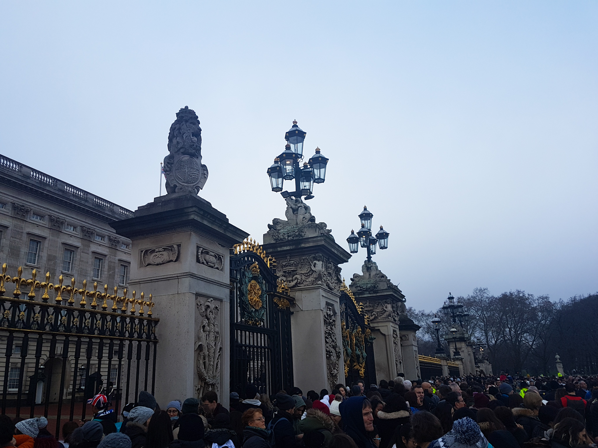 The crowd outside of Buckingham Palace. I was just waiting to see if Meghan Markle was going to come out and greet me! I sent her a few emails……