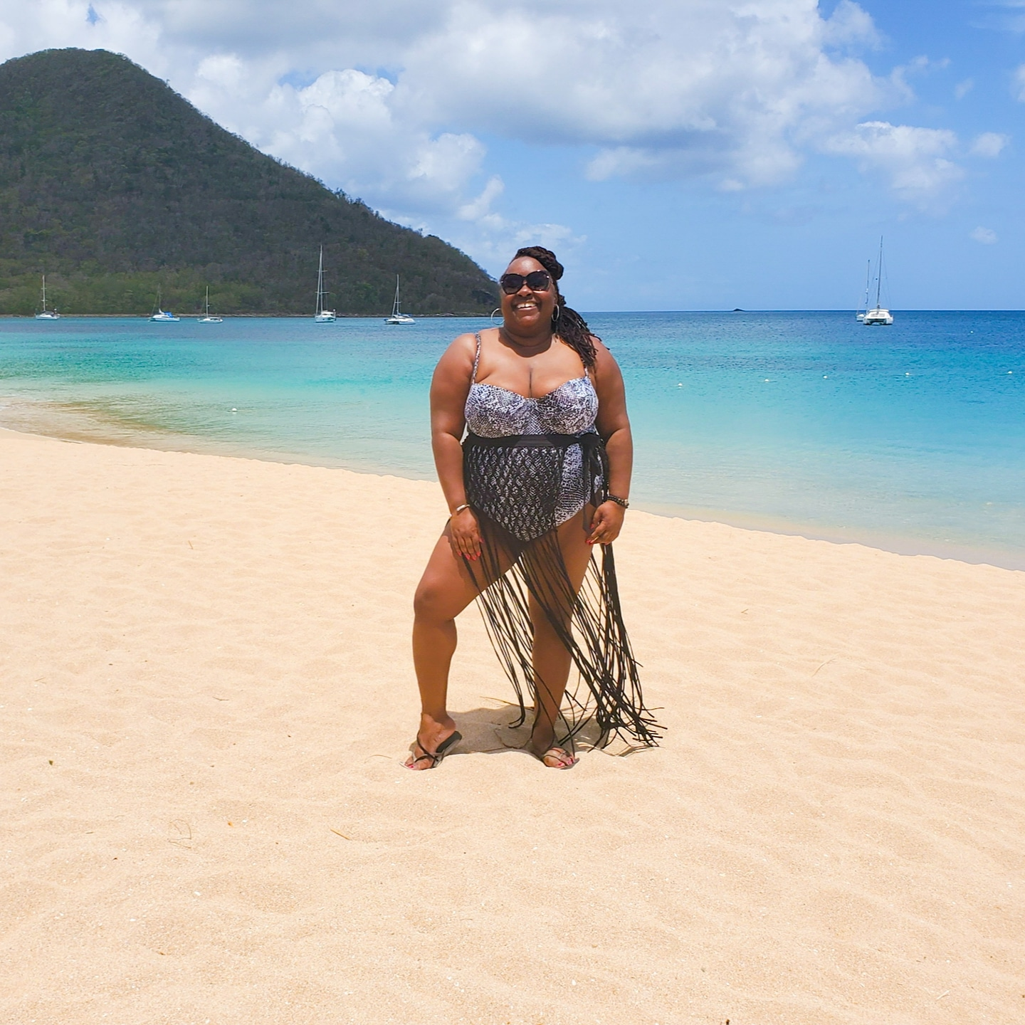 Swimsuit: Asos    Sarong: Forever 21