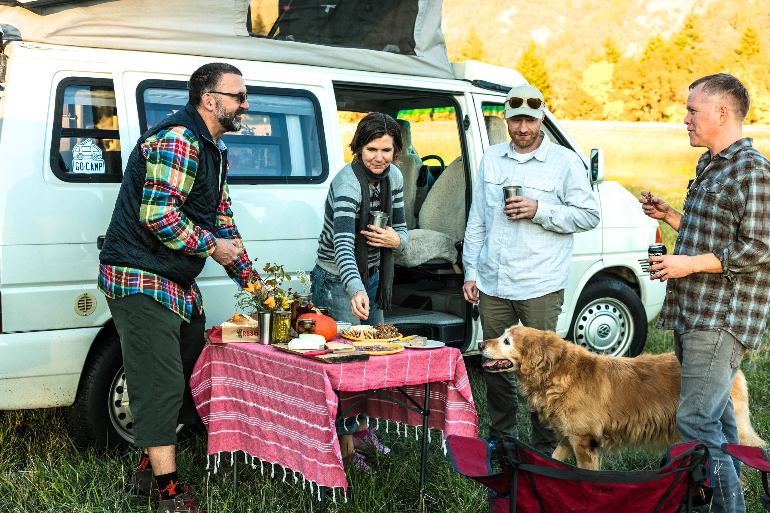 STEP 5: INVITE FRIENDS.  Reserve several vans or tag along with your friends that own vans. (They've been doing #Vansgiving without you for years.) Also, many GoCamp vans allow four-legged friends.