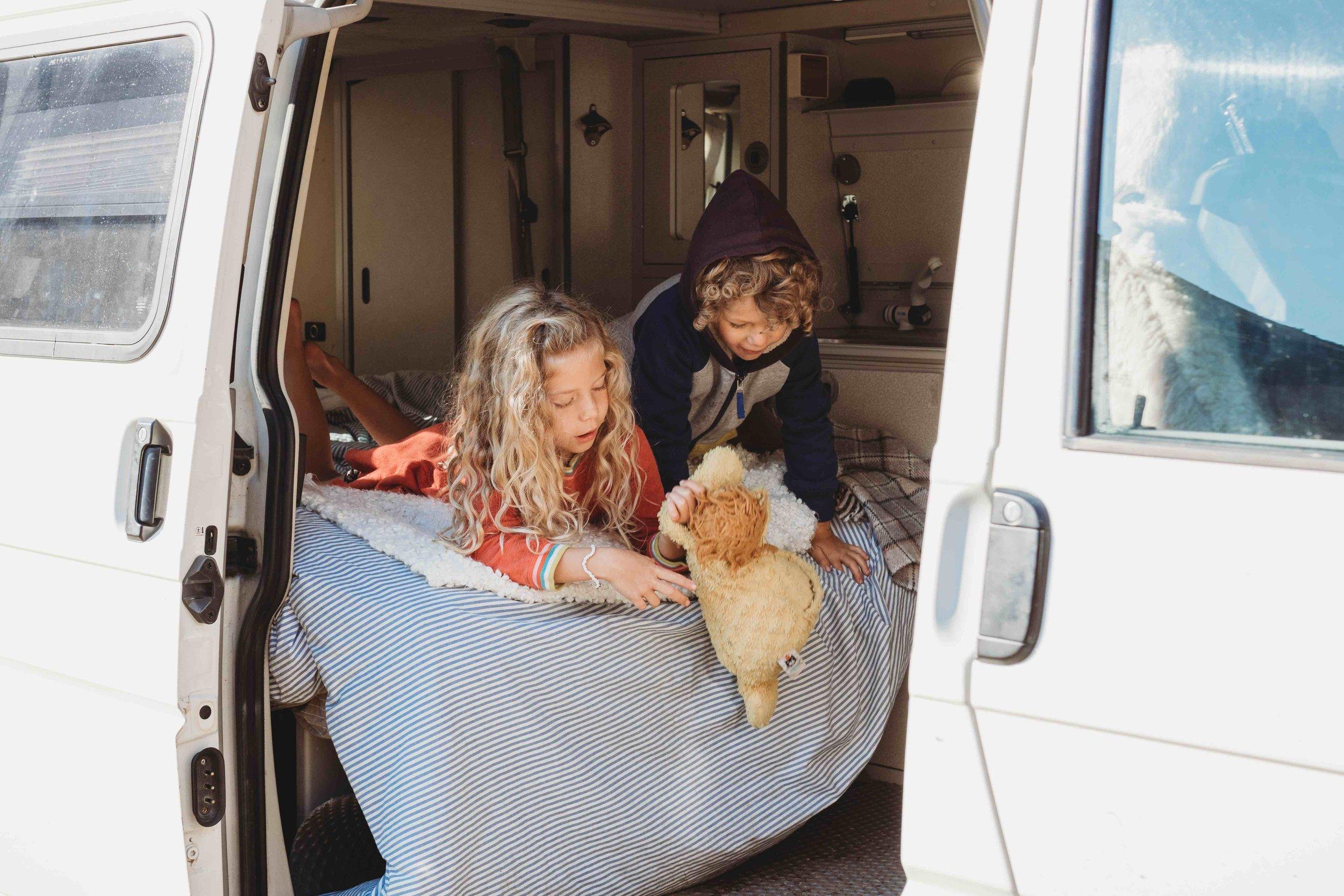 Sleeping in a camper van