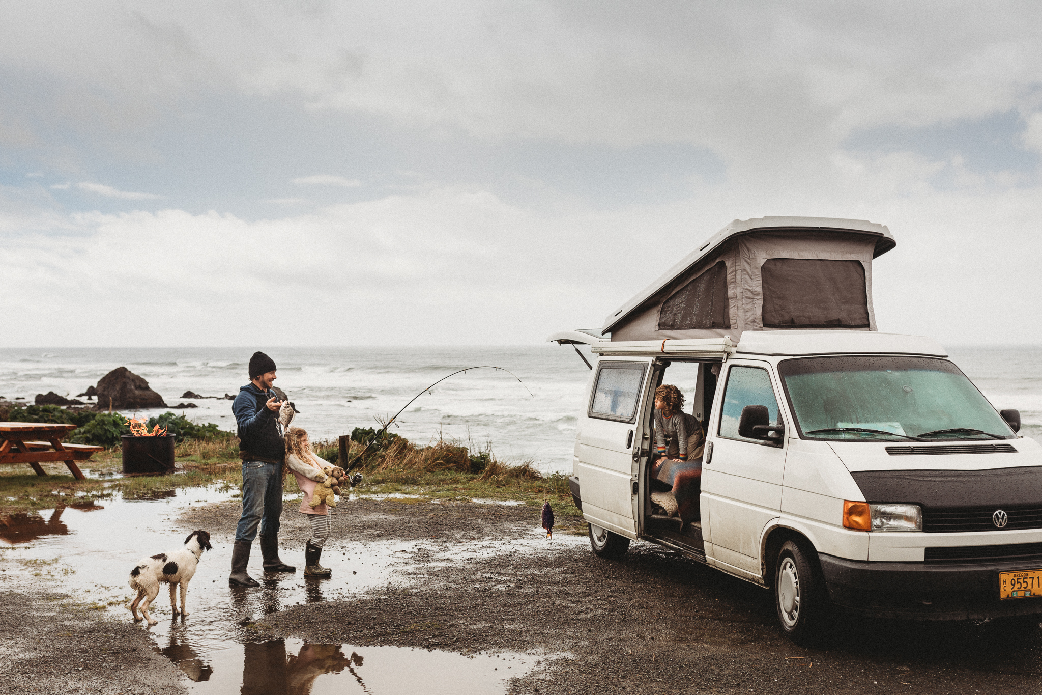 fishing on the oregon coast camper van.jpg