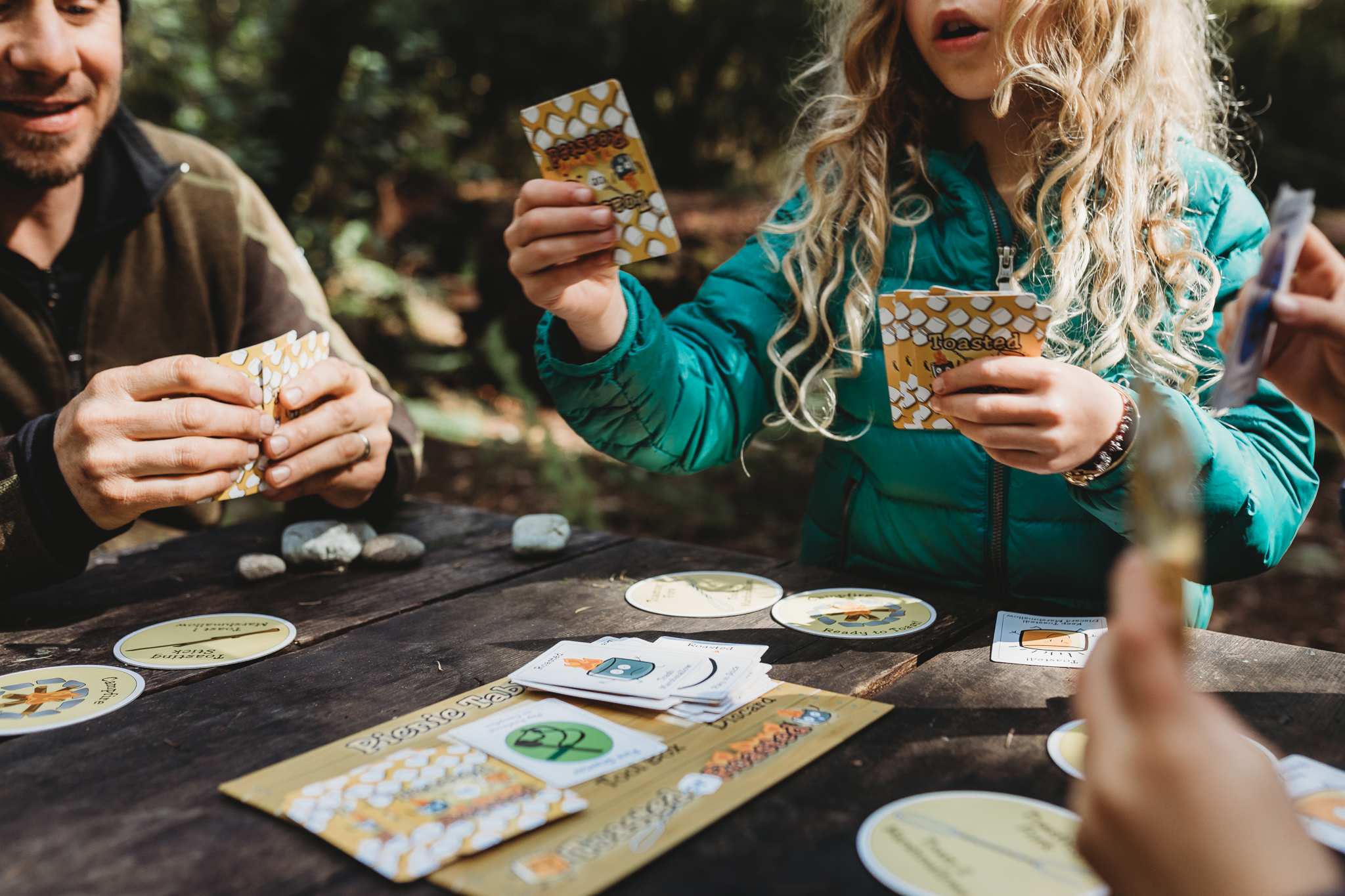 A game of Toasted or Roasted in camp. Photo by Natalie Gildersleeve.
