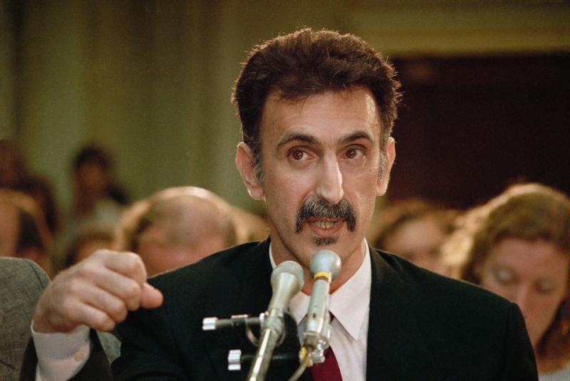 Frank Zappa (along with John Denver & Dee Snider) testified against the PRMC over 30 years ago.