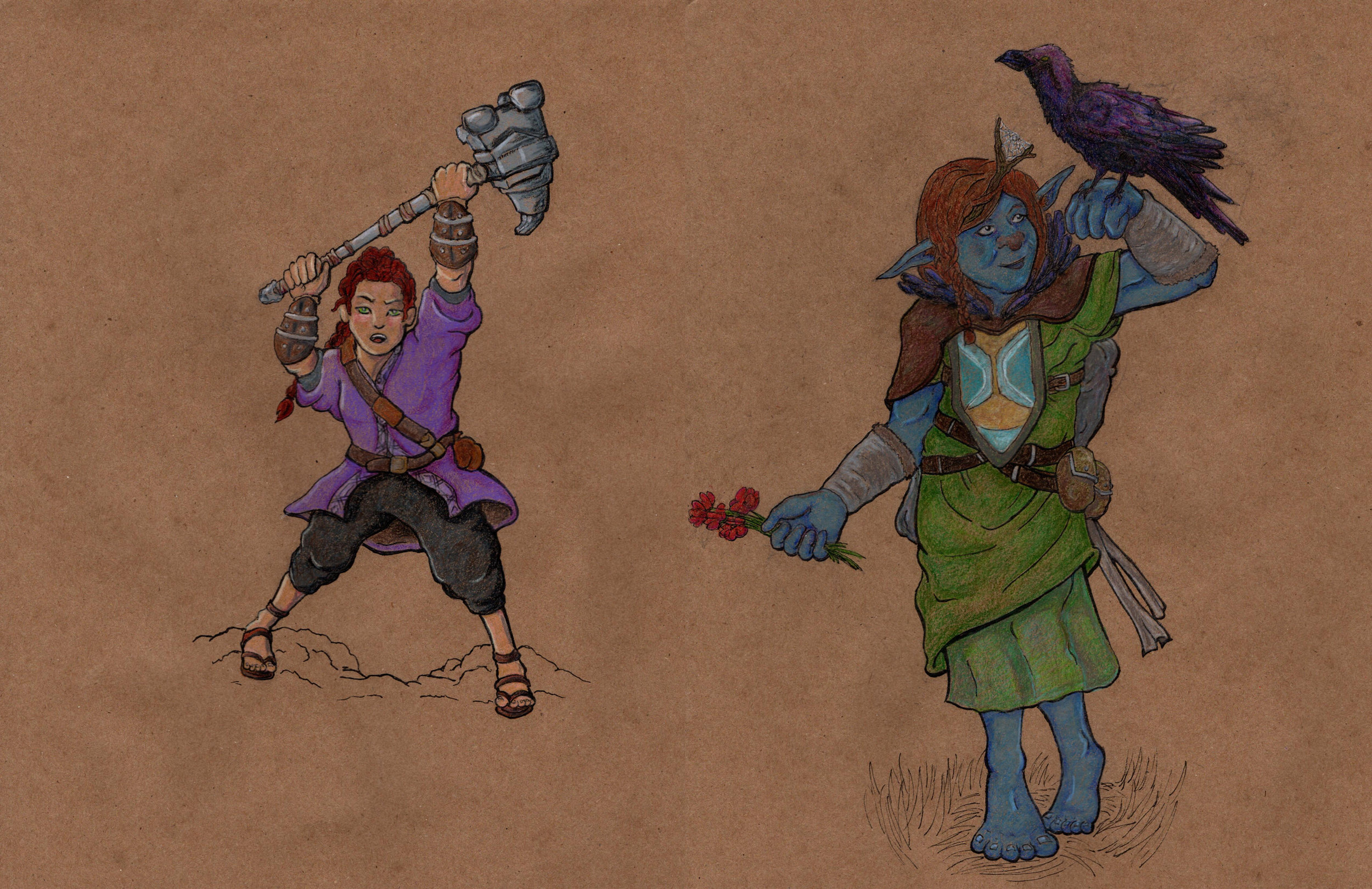 Characters with Colored Pencil